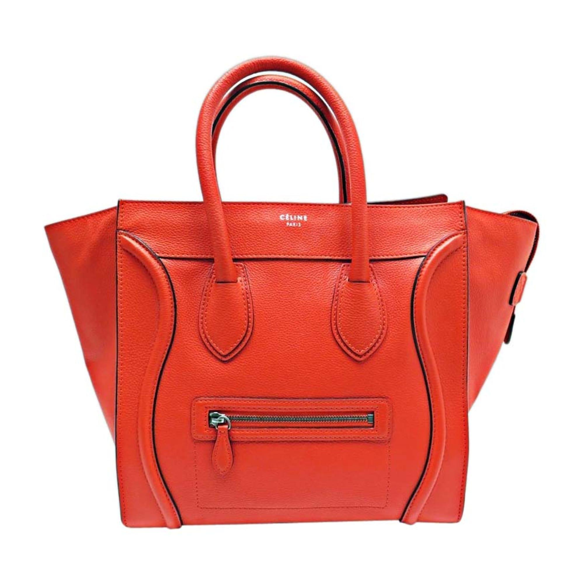 88857453ff Sac à main en cuir CÉLINE luggage orange - 7905934