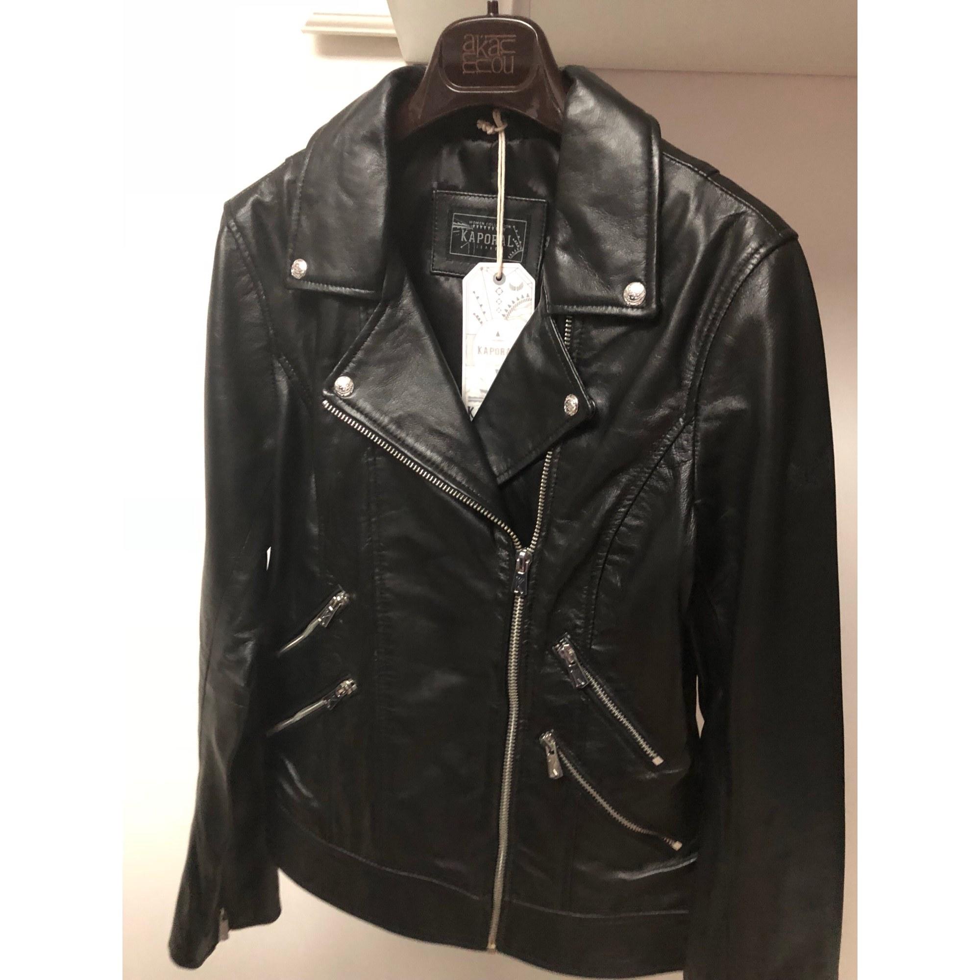 Veste en cuir KAPORAL 38 (M, T2) noir vendu par Fafi 17