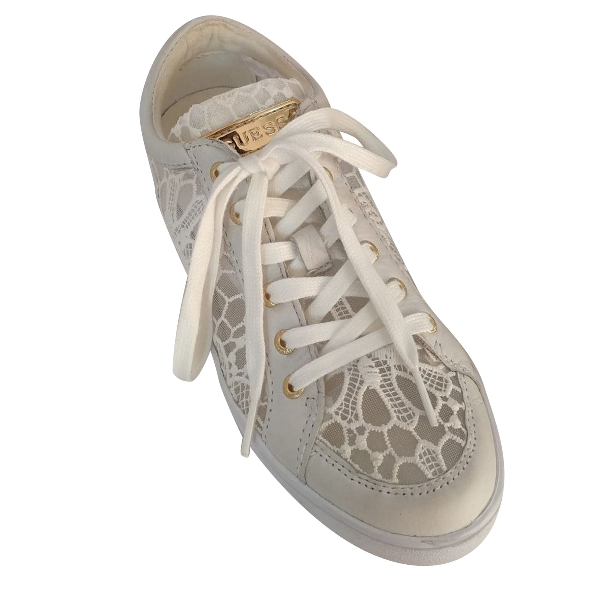 Chaussures à lacets GUESS Blanc, blanc cassé, écru c01d657b85e