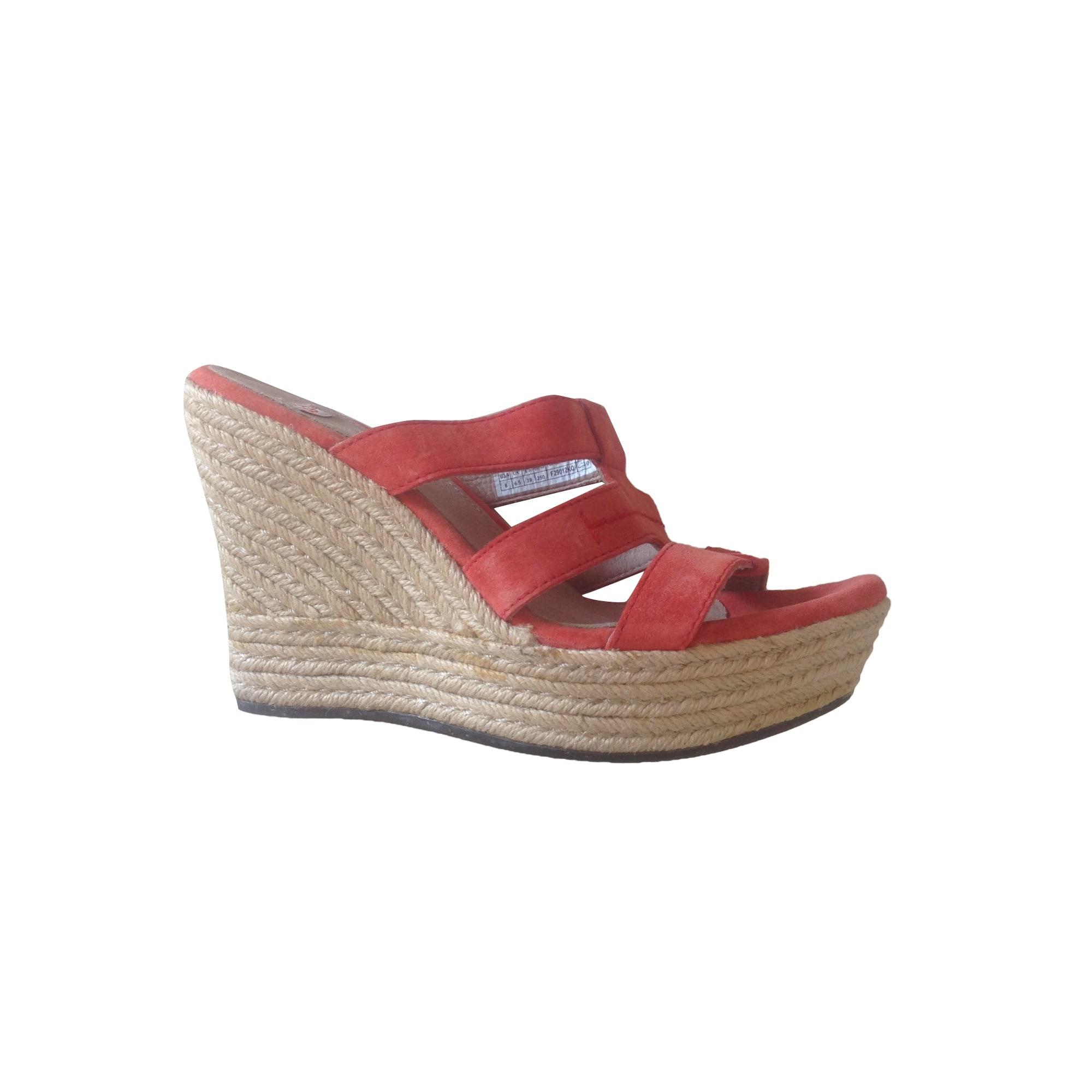 Sandales compensées UGG Orange