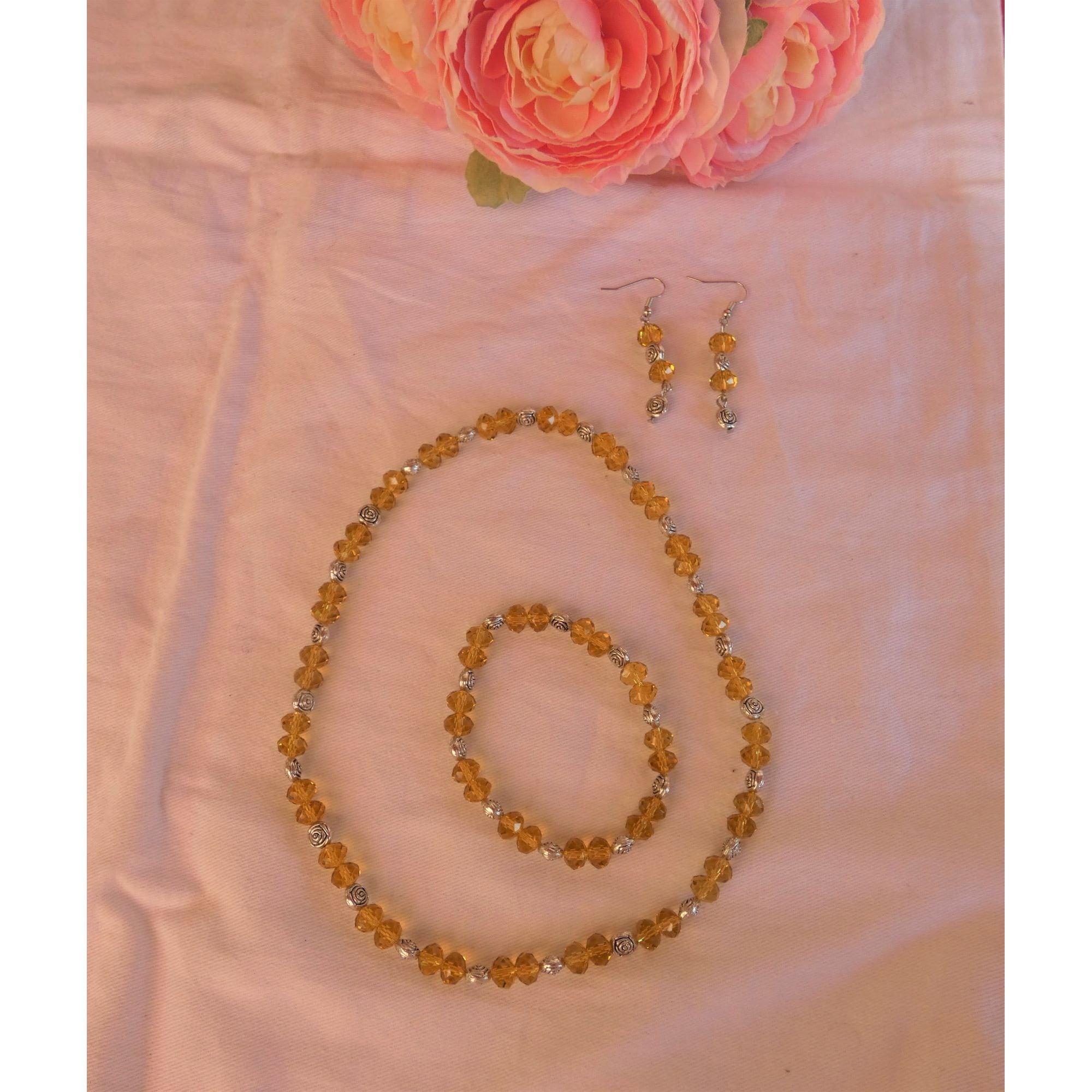 Parure bijoux NO COLLECTION perle jaune