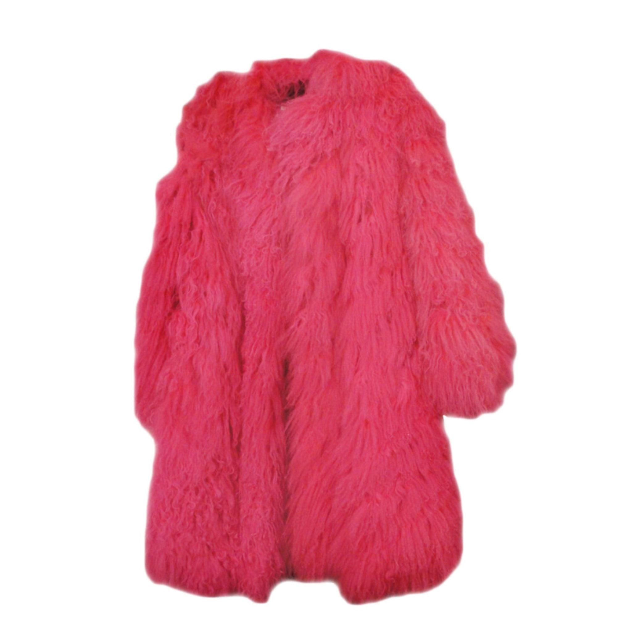 Manteau en fourrure SONIA RYKIEL 36 (S, T1) rose vendu par Jelena ... 599c66fd4a0