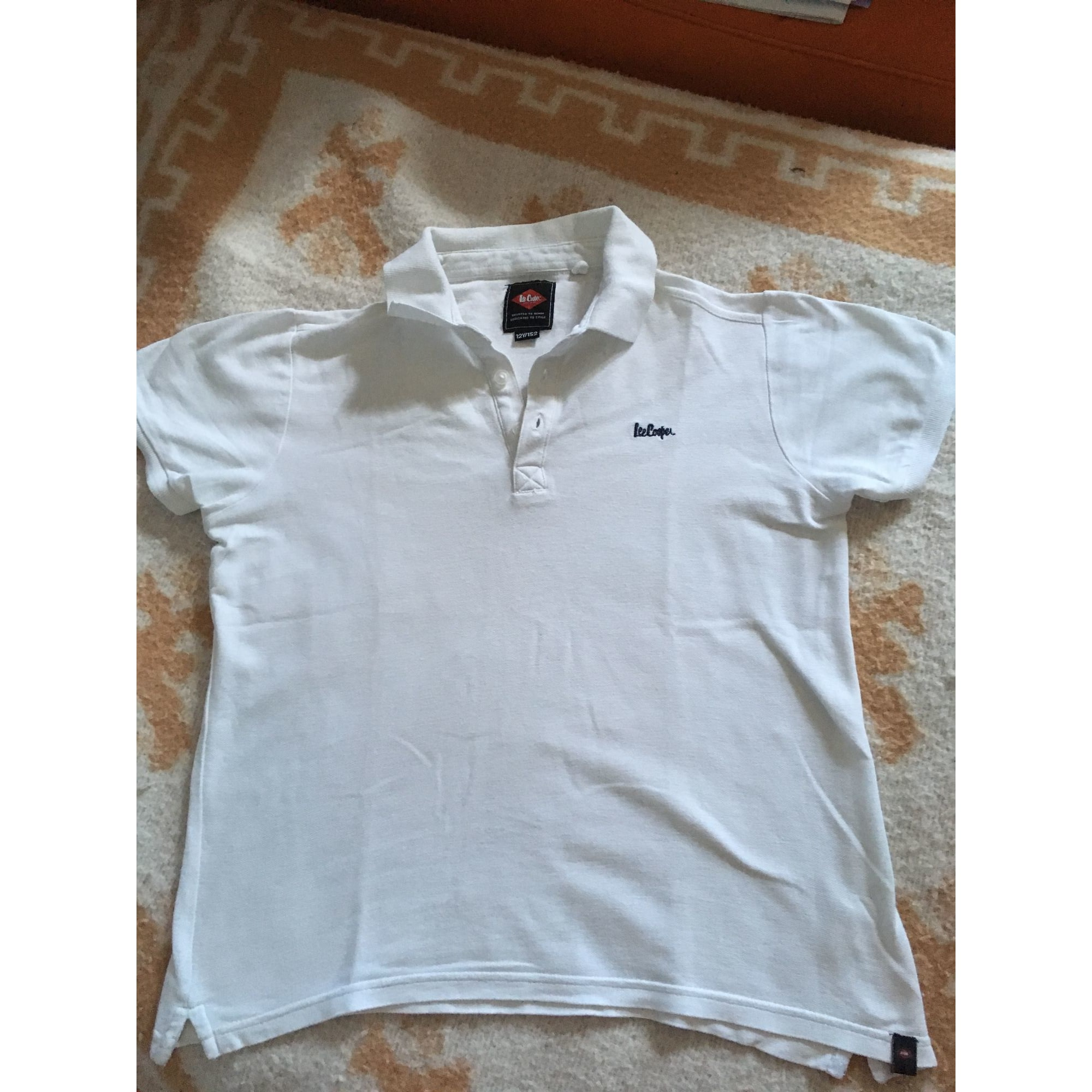 18e70bffe6649 Polo LEE COOPER 11-12 ans blanc vendu par Wahin - 7922611