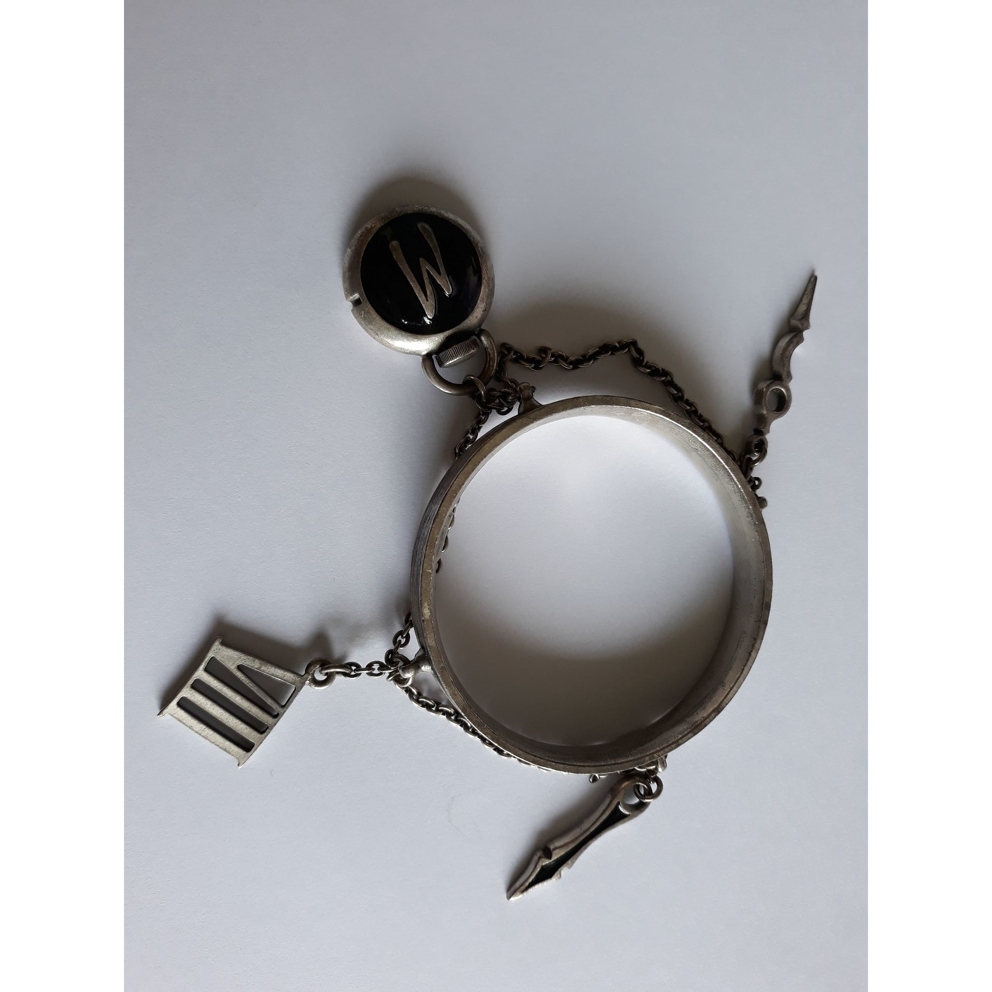 Bracelet CLAUDE MONTANA etain argent