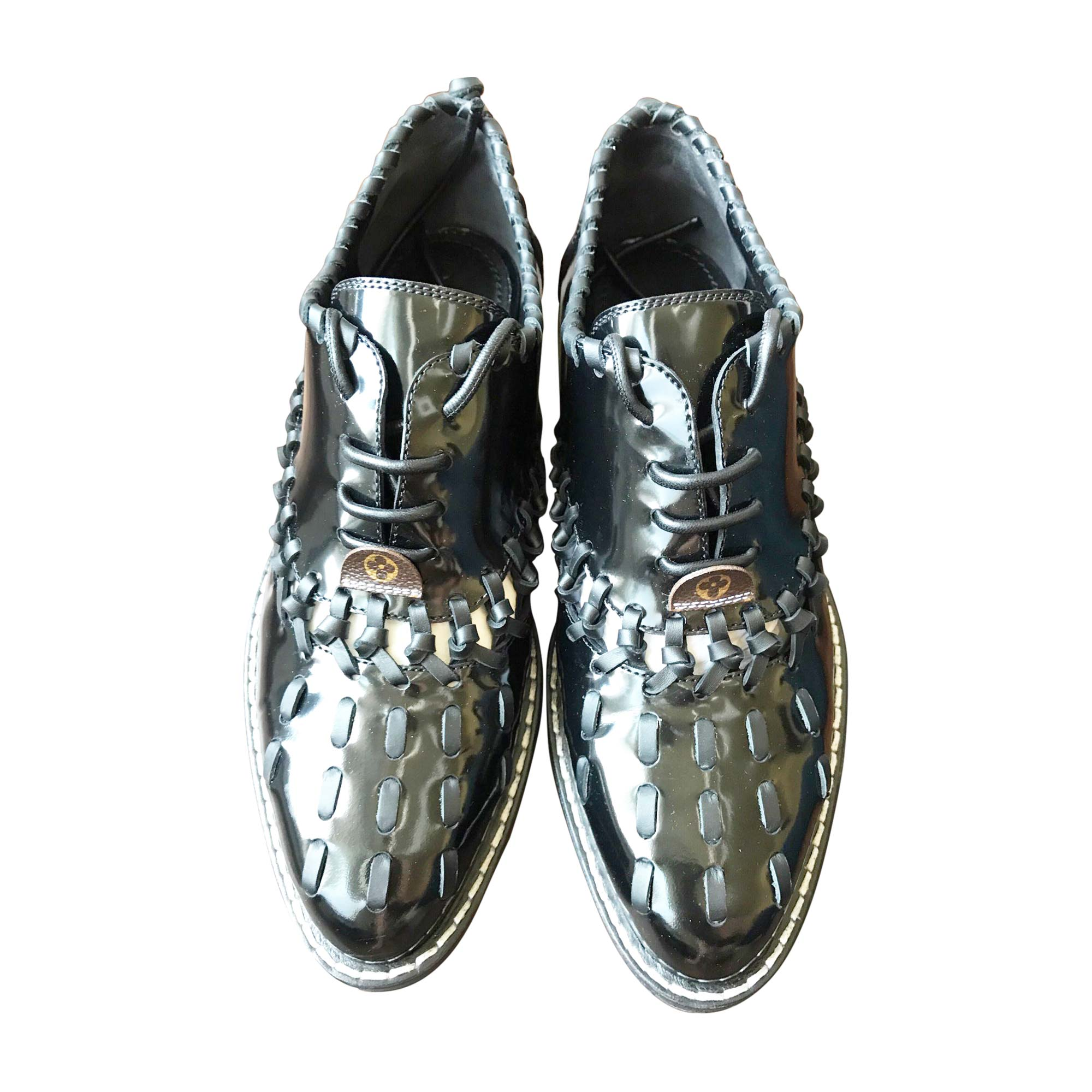 Chaussures à lacets LOUIS VUITTON 40 noir - 7926674 d2780699ee8