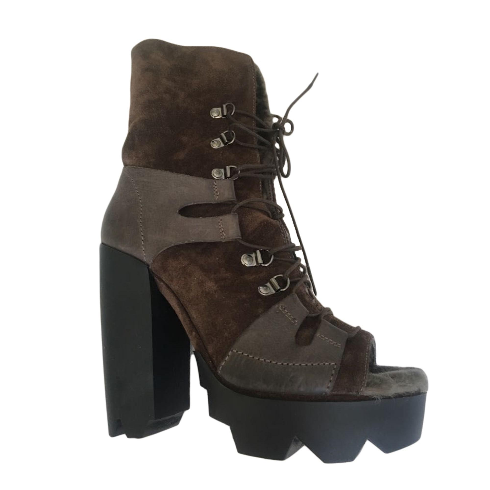 a99c9168e7d Bottines   low boots à talons VIC MATIÉ 39 marron - 7927621