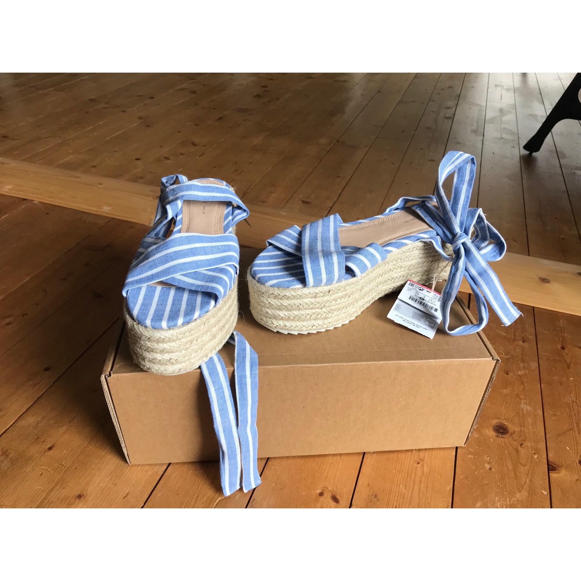 Pullamp; 7930535 Bear Sandales Bleu 37 Compensées sQrCtoBhdx