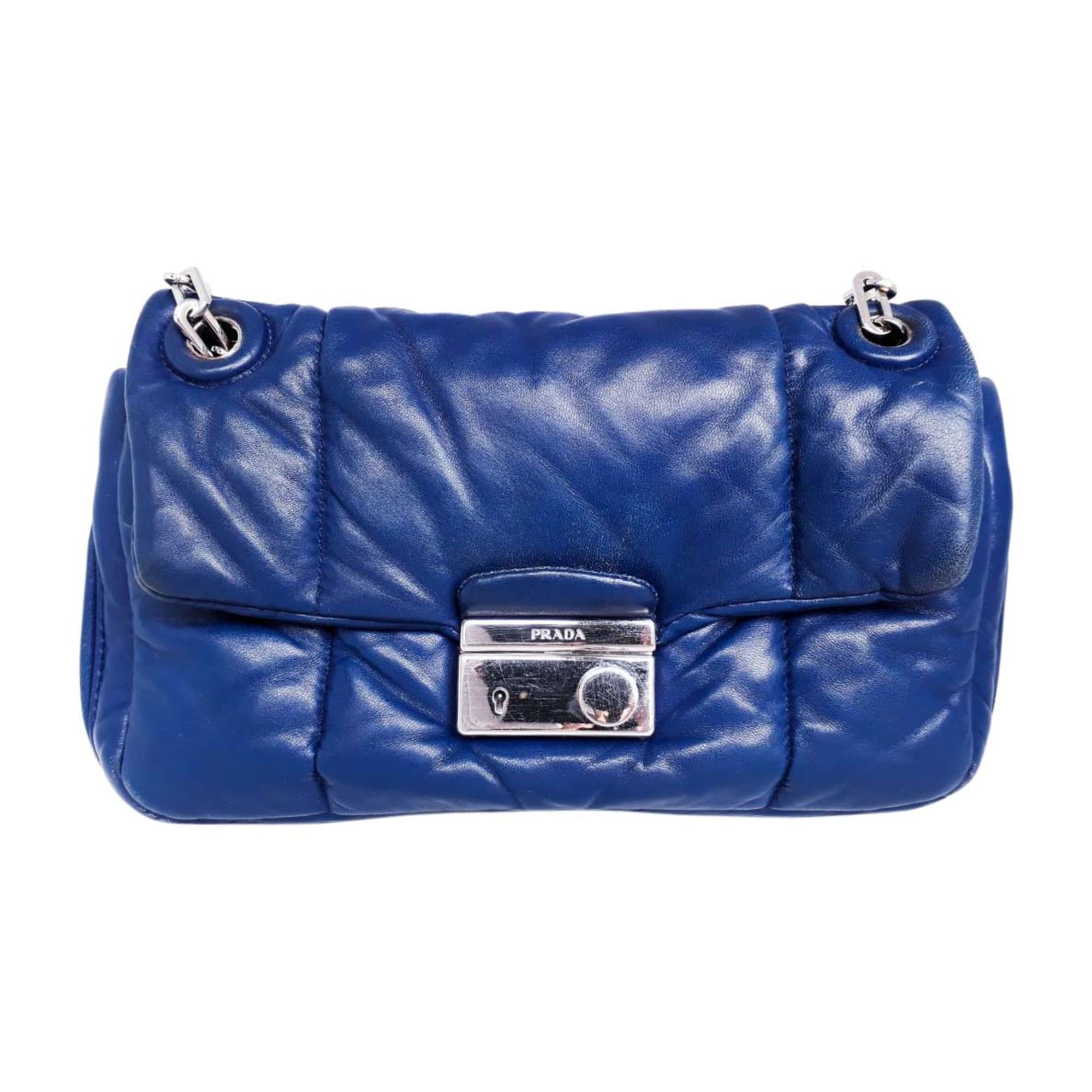 e7bf7669d1de Leather Shoulder Bag PRADA blue - 7931776