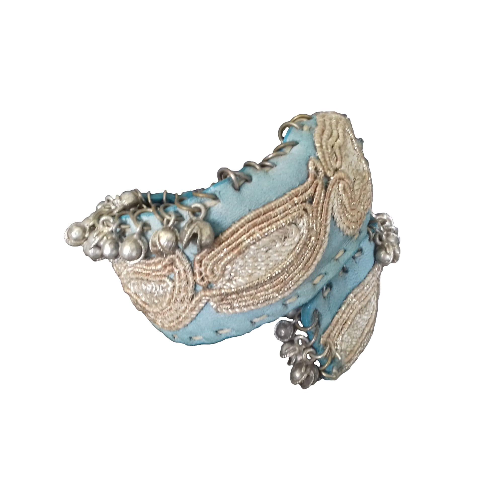 Bracelet ERMANNO SCERVINO cuir bleu