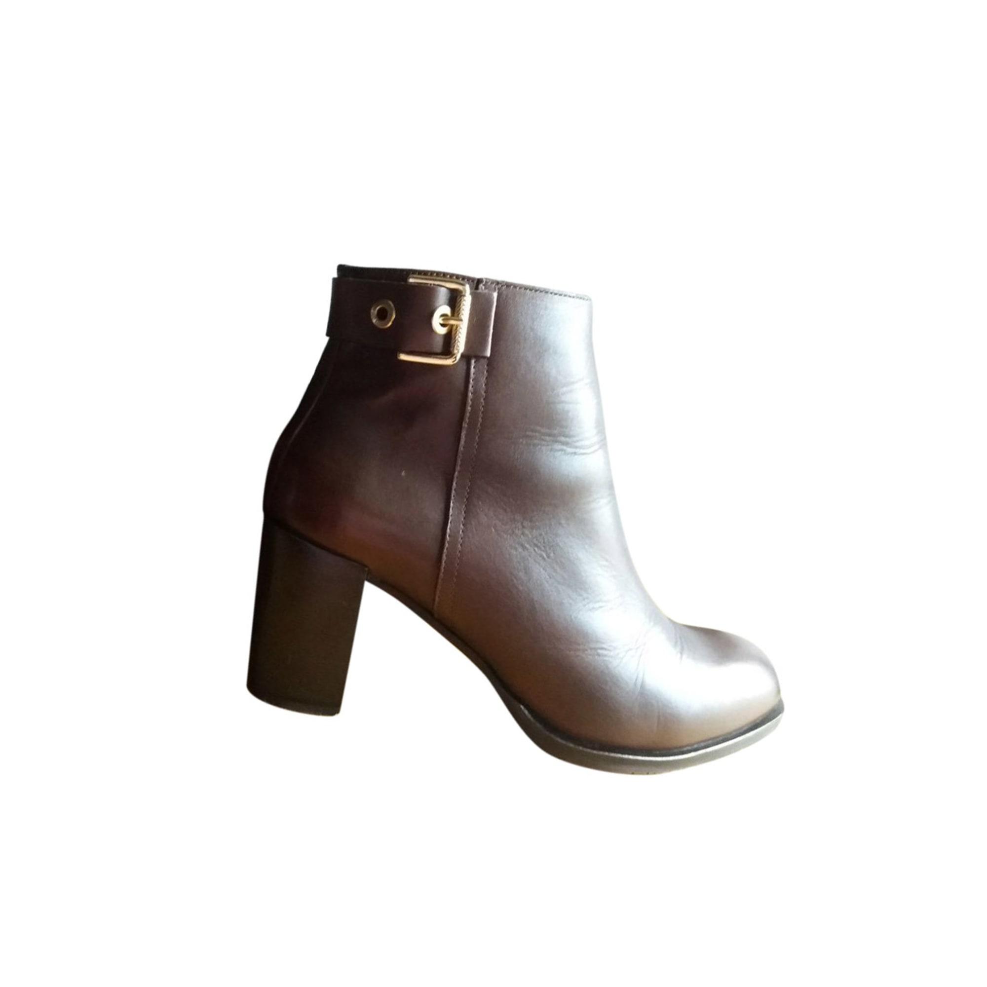 c3cf839ba9570d High Heel Ankle Boots TOMMY HILFIGER 41 brown - 7938583