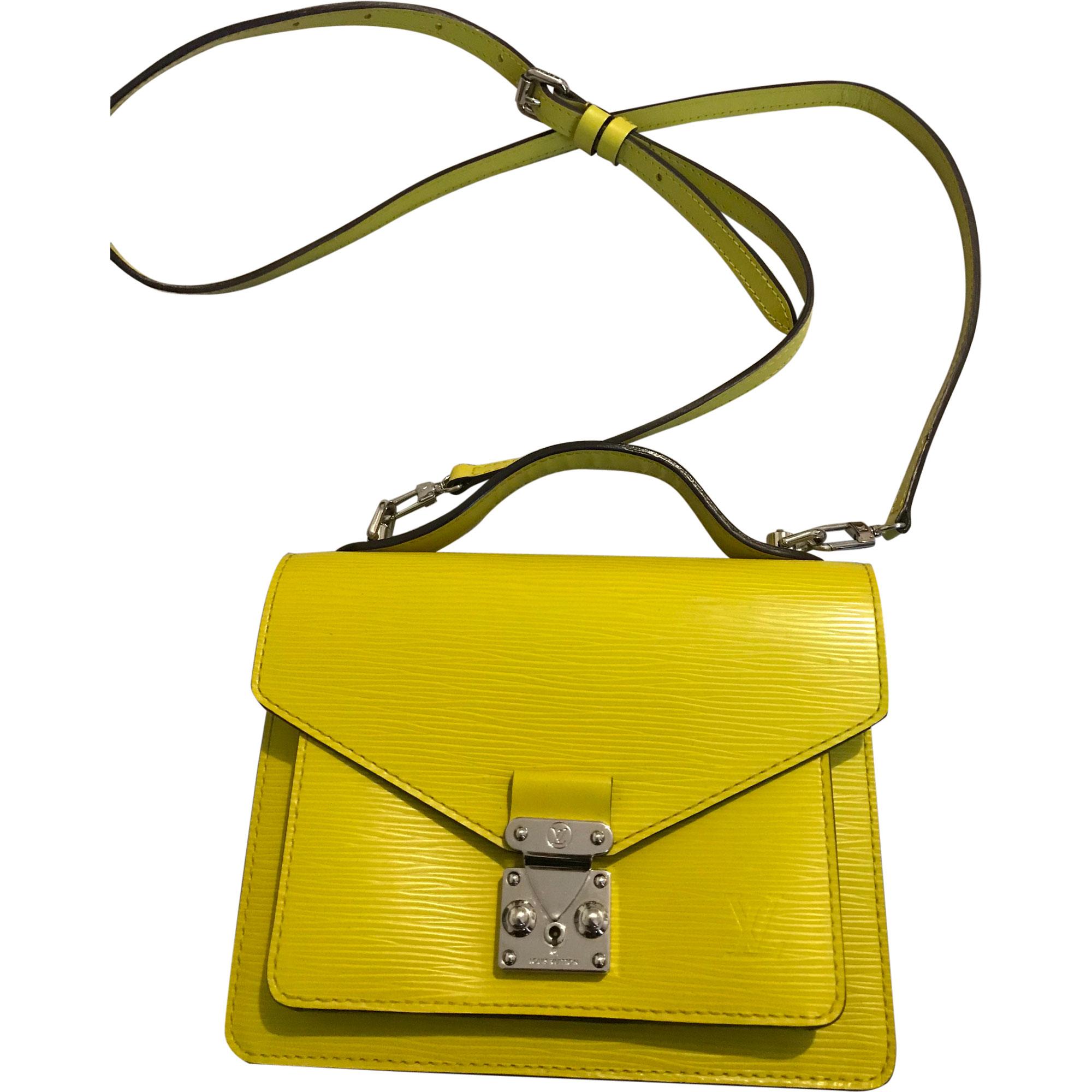 Sac en bandoulière en cuir LOUIS VUITTON jaune vendu par Sac marc ... 246460b2bff