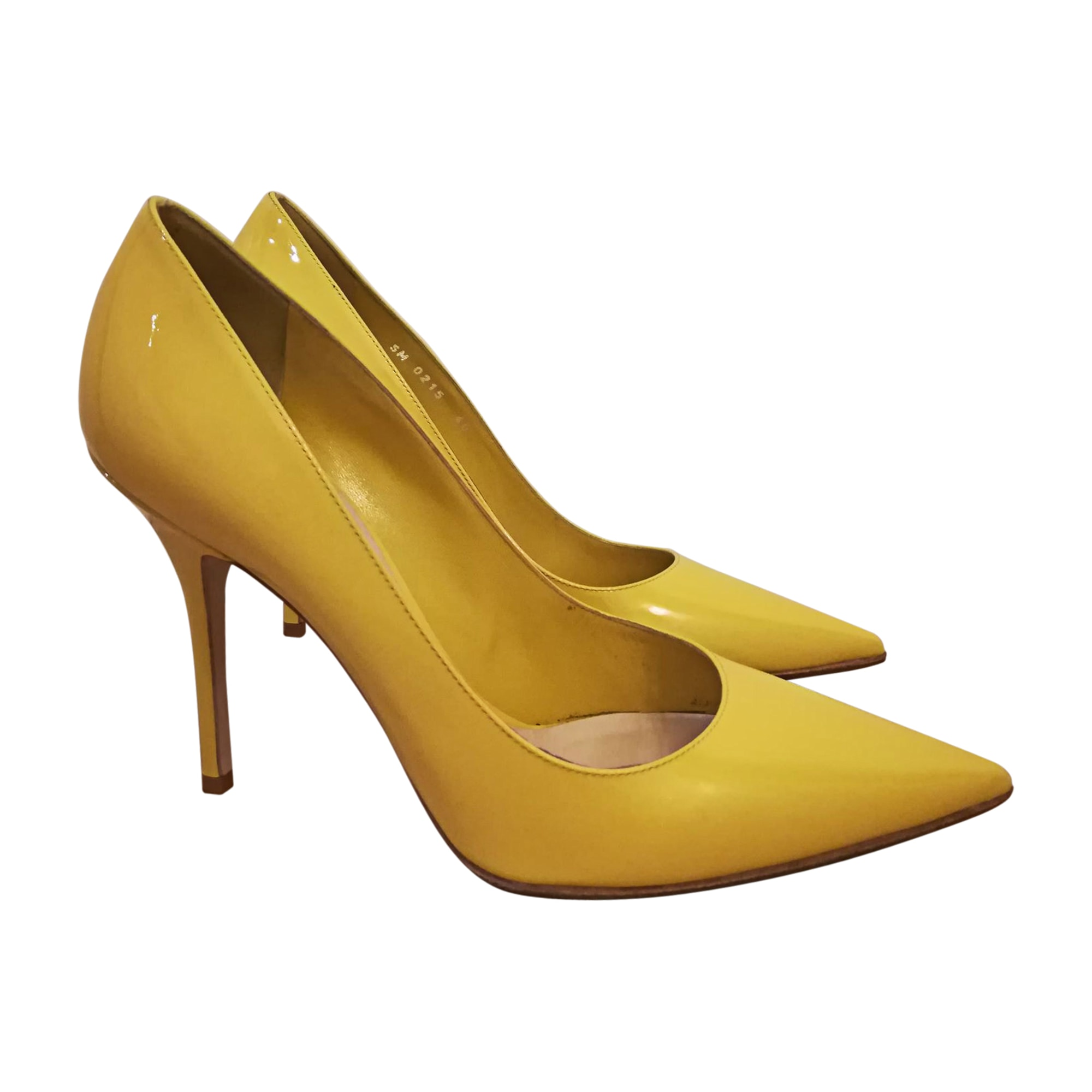 8527a01b6cc 2018 Spring Summer Elegant Genuine Leather Ladise Nude Yellow Pumps Pointed  Toe Thin High Heel Women Normal Size 9 Dress Shoes-in Women s Pumps from  Shoes …