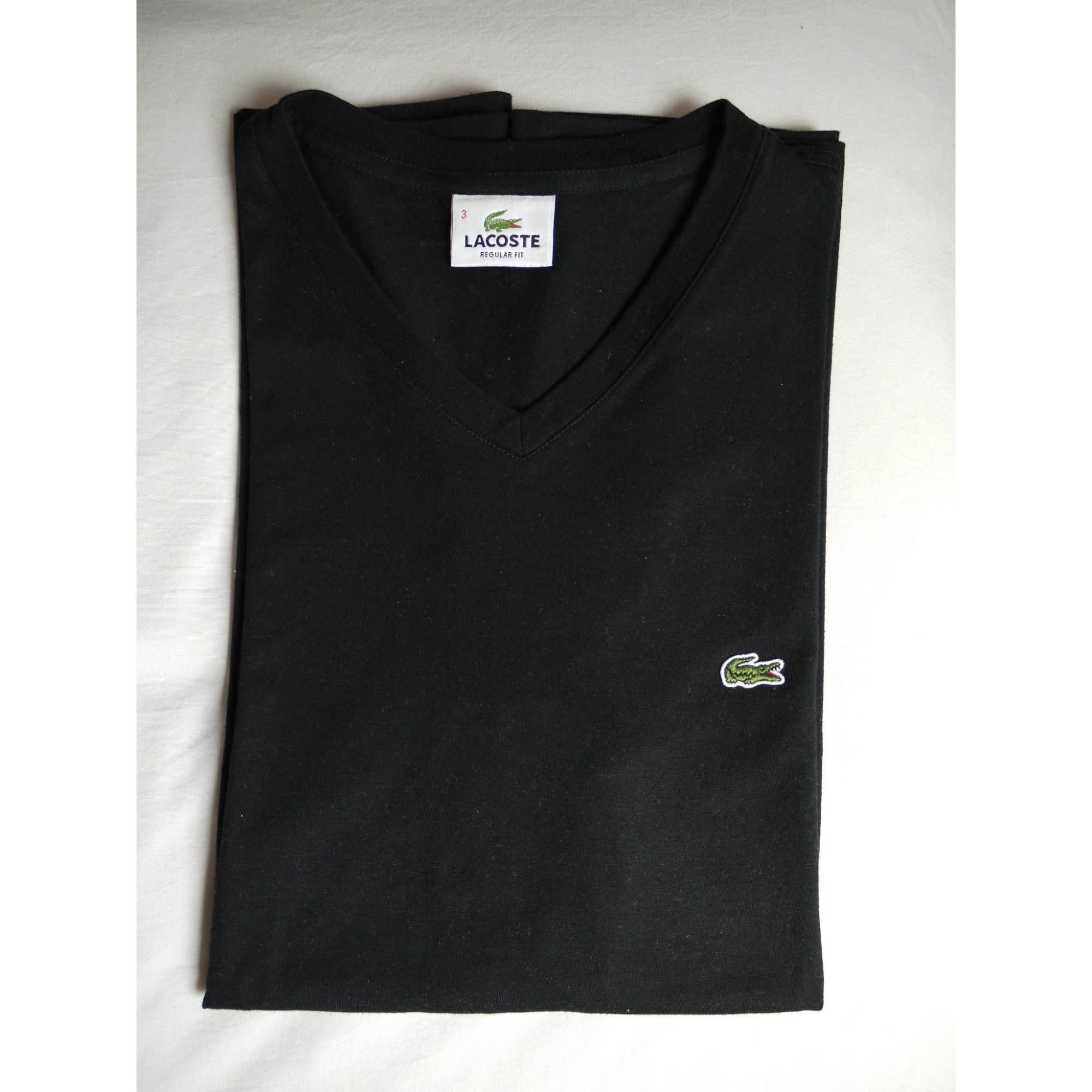 1a3184fff3 Tee-shirt LACOSTE 3 (L) noir vendu par De paola - 7953344