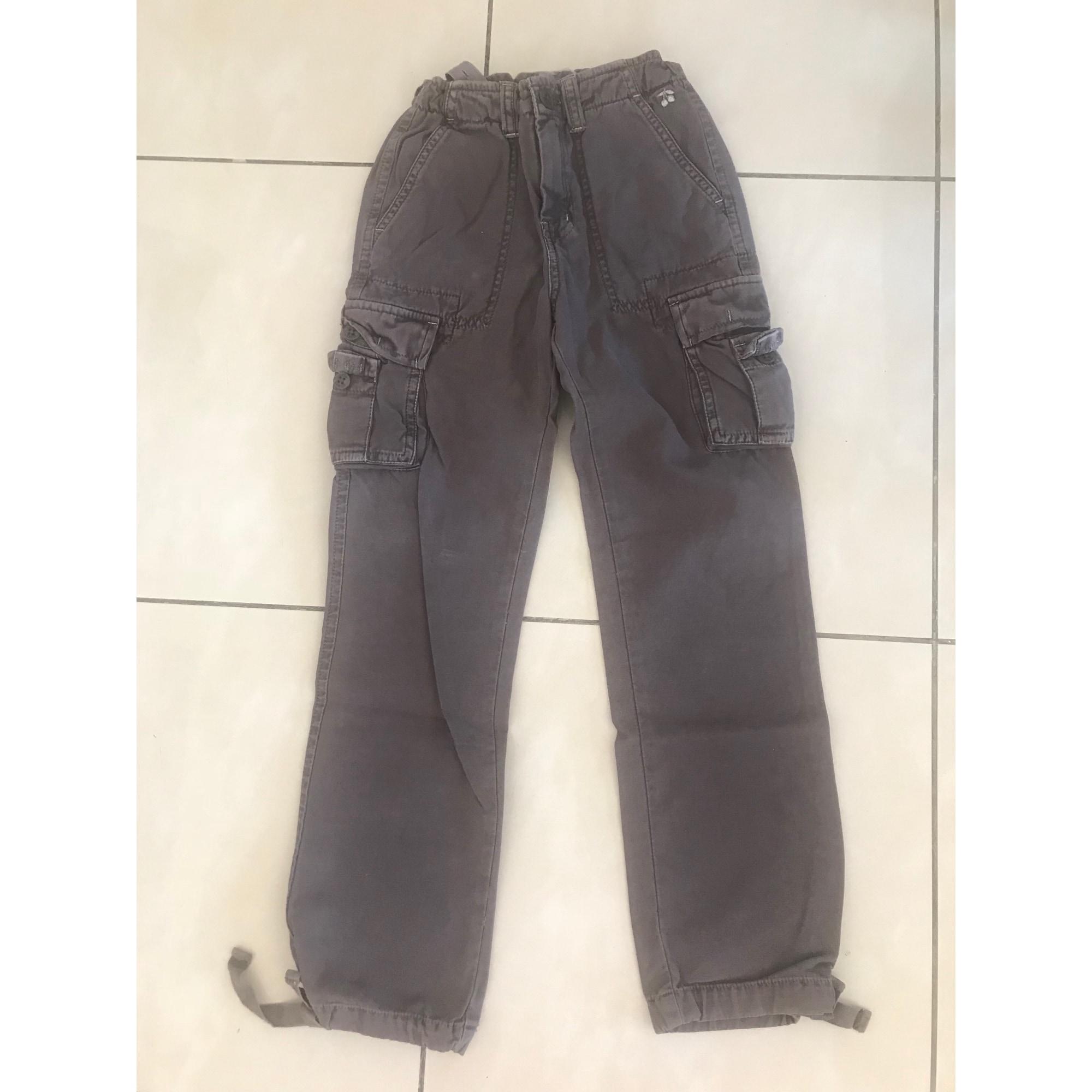 Pantalon LE TEMPS DES CERISES coton marron 7-8 ans