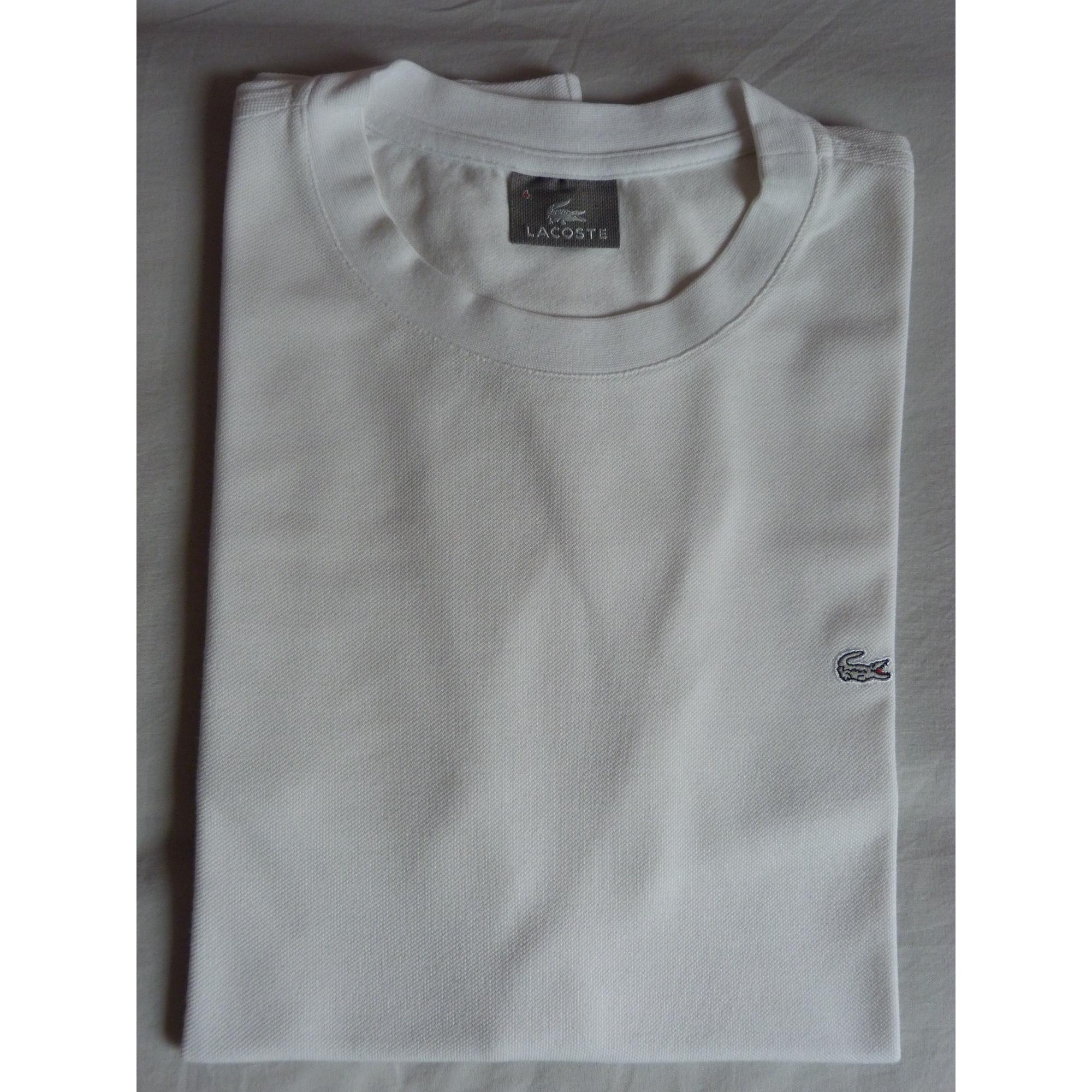 4fad99bd35 Tee-shirt LACOSTE Blanc, blanc cassé, écru
