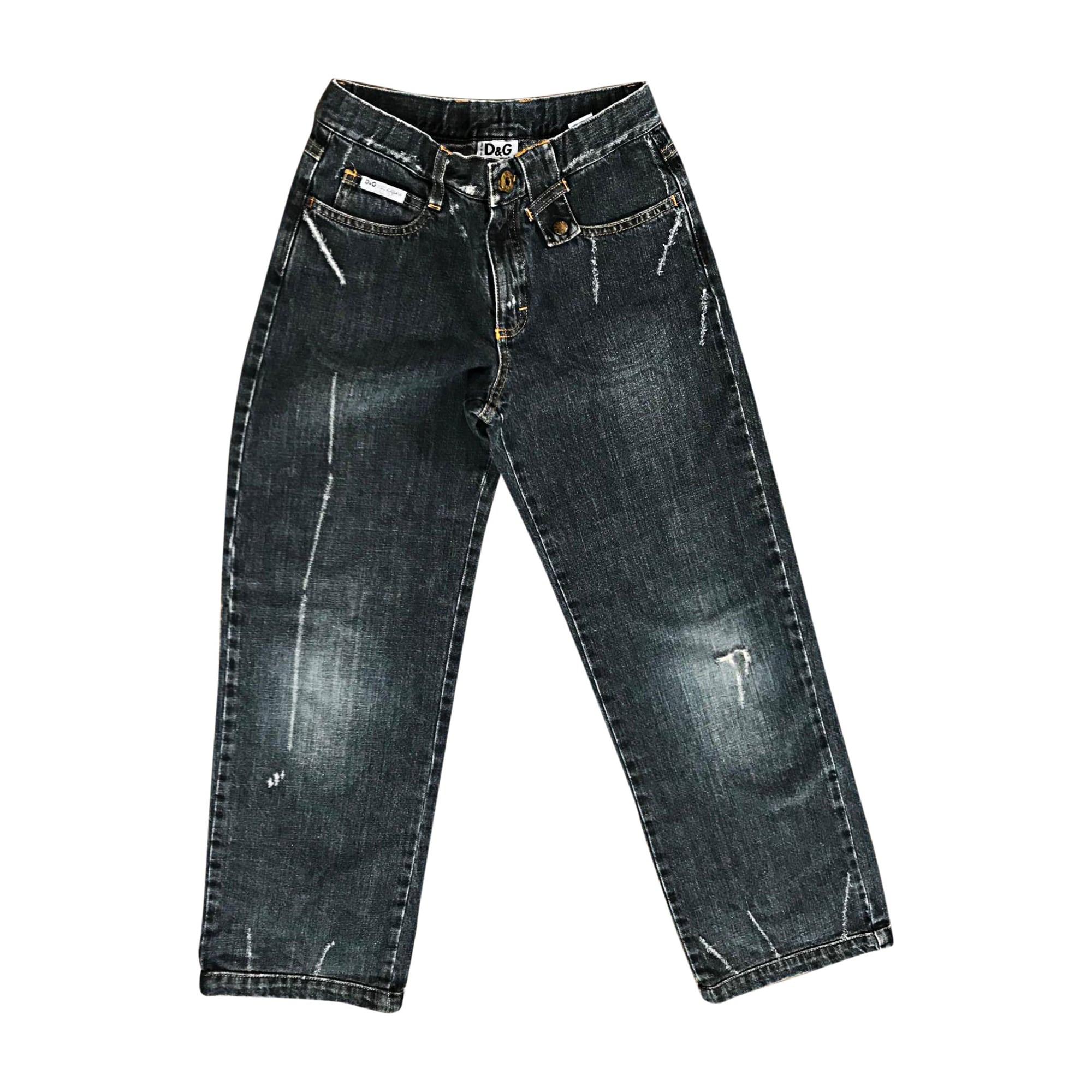 Jeans droit DOLCE & GABBANA Bleu, bleu marine, bleu turquoise