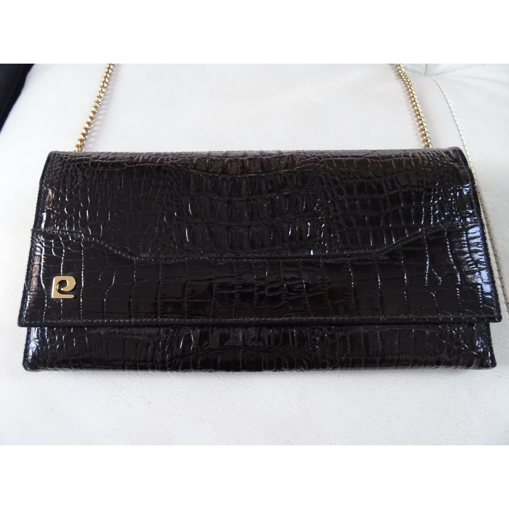 b6846c0c45 Sac pochette en cuir PIERRE CARDIN noir - 7959086