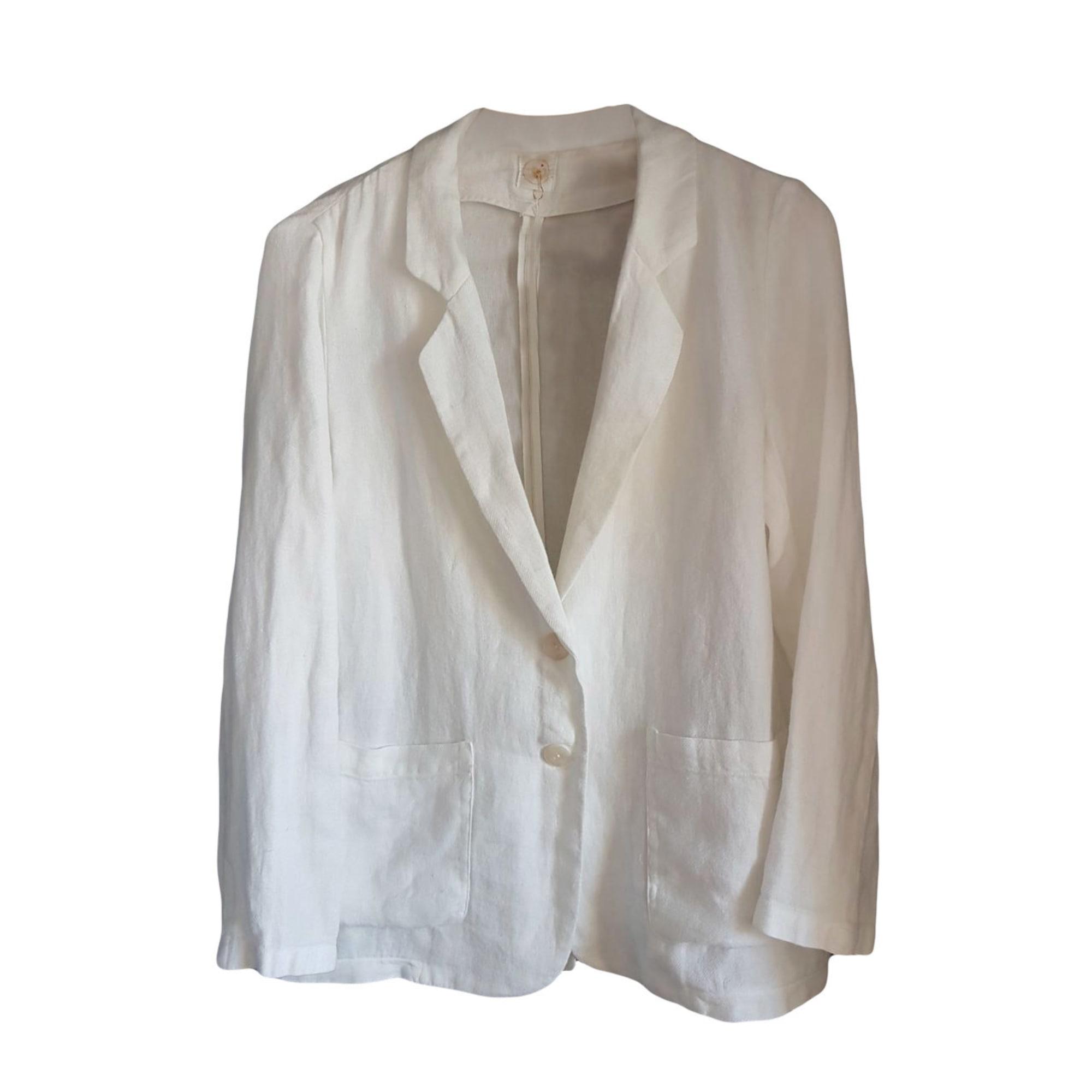 Veste blazer blanc homme