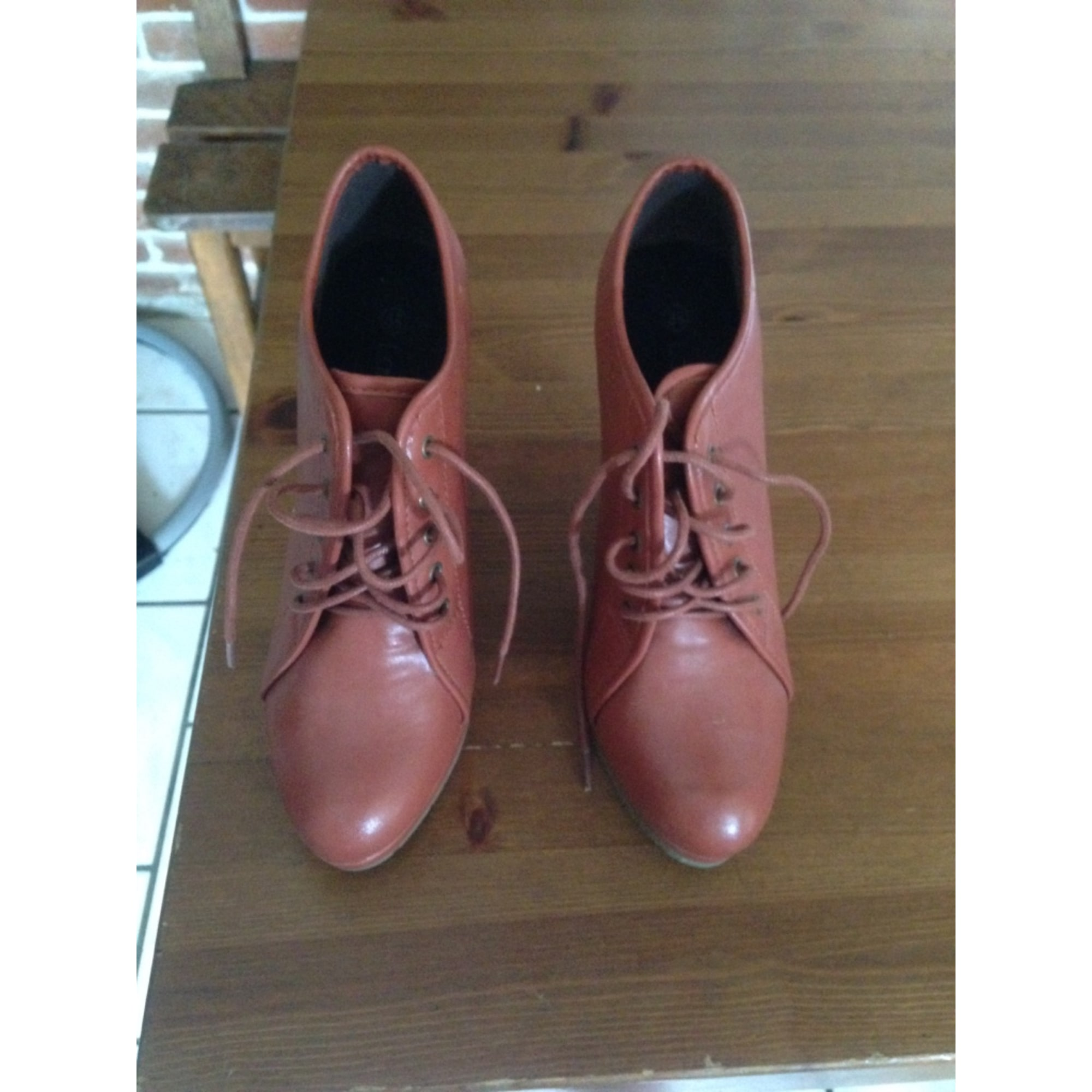 Aux Aux La À Chaussures Compensés amp; Bottines Halle Boots Boots 38 Low Orange xUp0XwqT