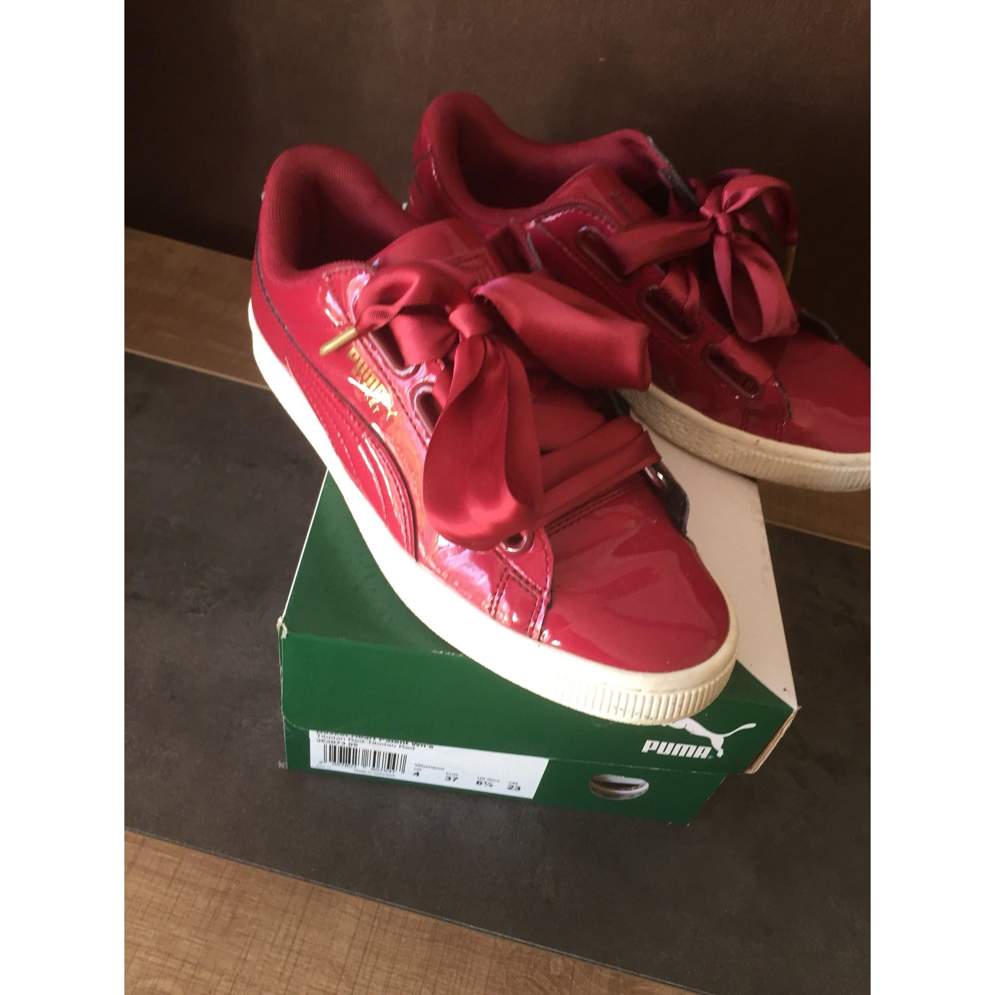 puma rouge basket