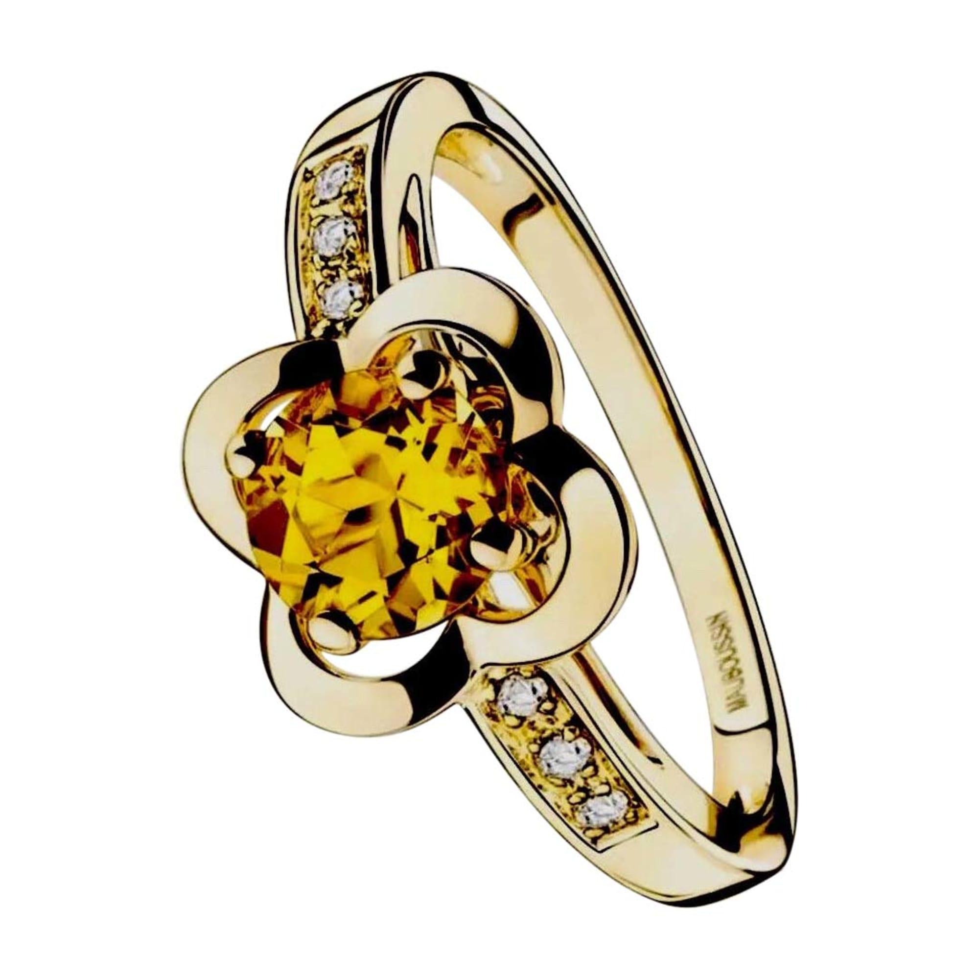 bague diamant jaune mauboussin