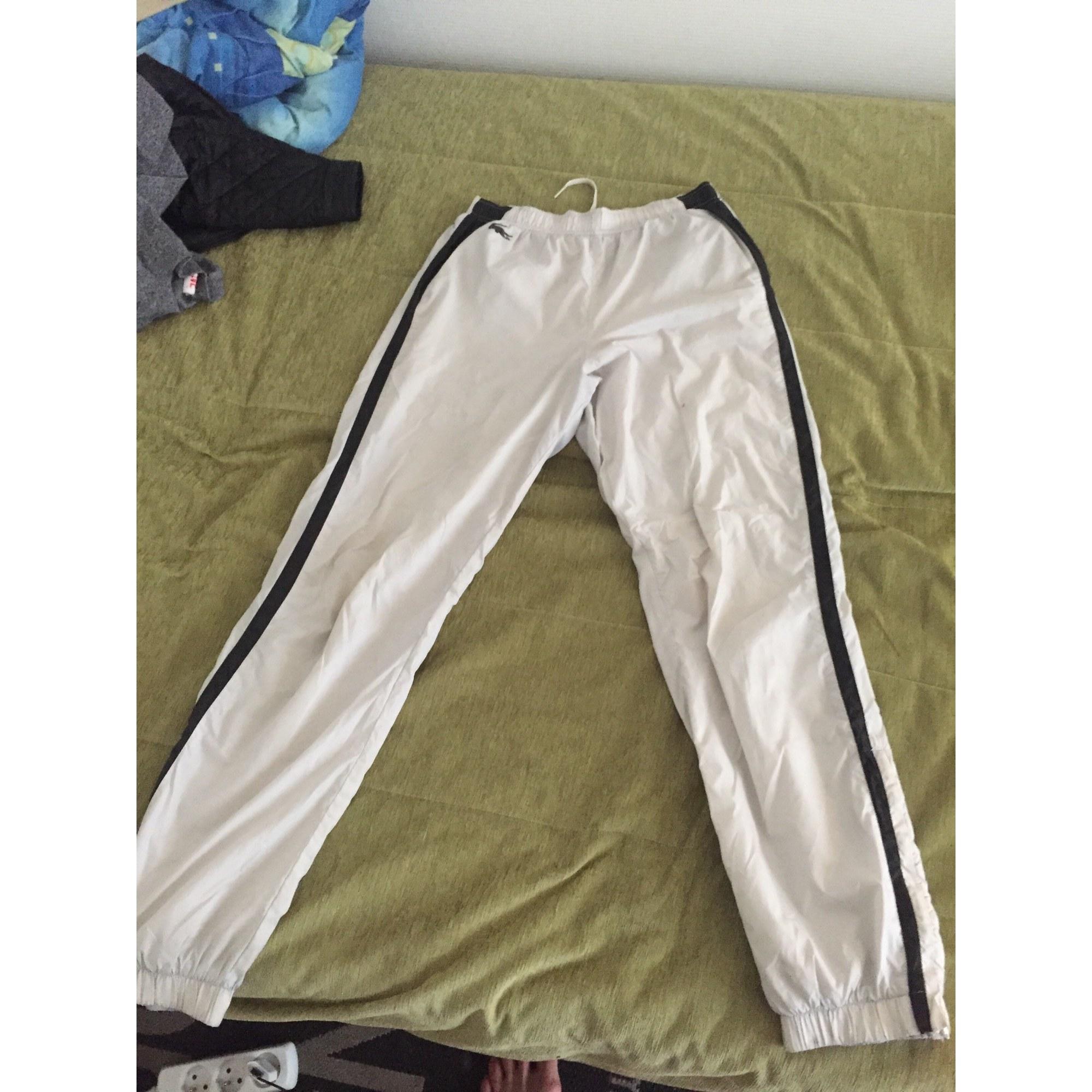 3a0c596d91 Pantalon de survêtement LACOSTE Blanc, blanc cassé, écru