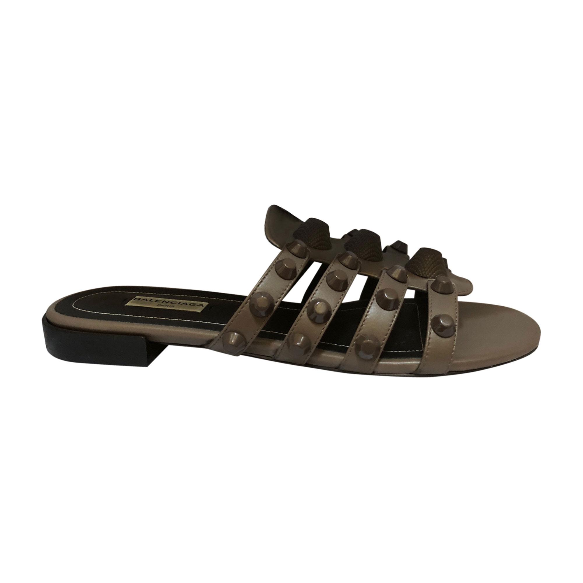 073cb344556d Flat Sandals BALENCIAGA Gray