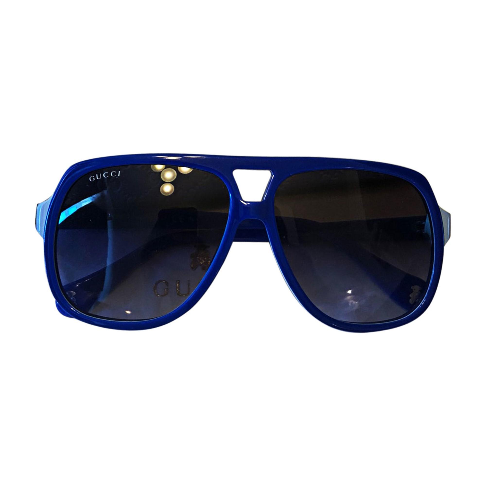 Lunettes de soleil GUCCI Bleu, bleu marine, bleu turquoise