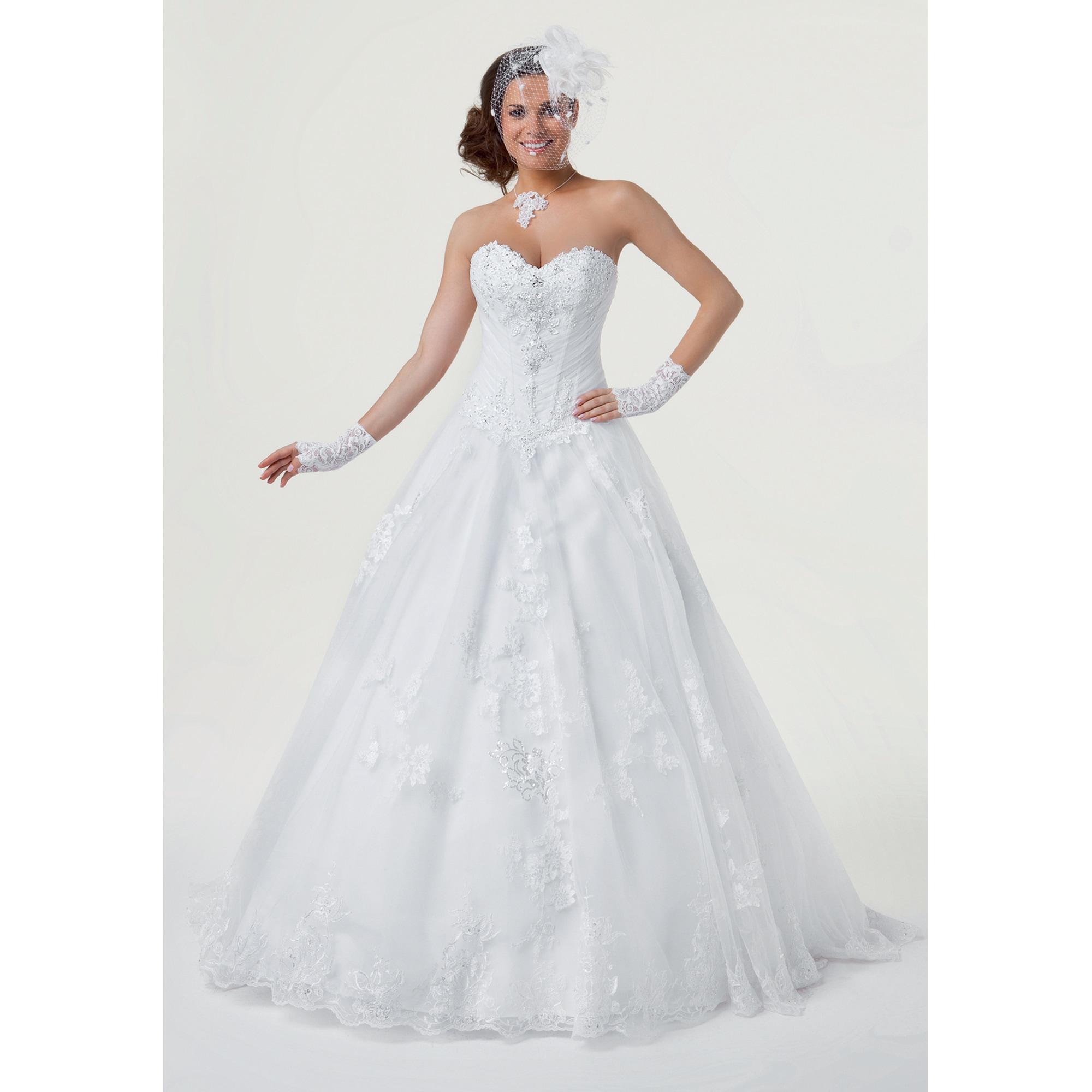6d5f8a446b Robe de mariée BELLA CRÉATION 40 (L, T3) blanc - 7968392
