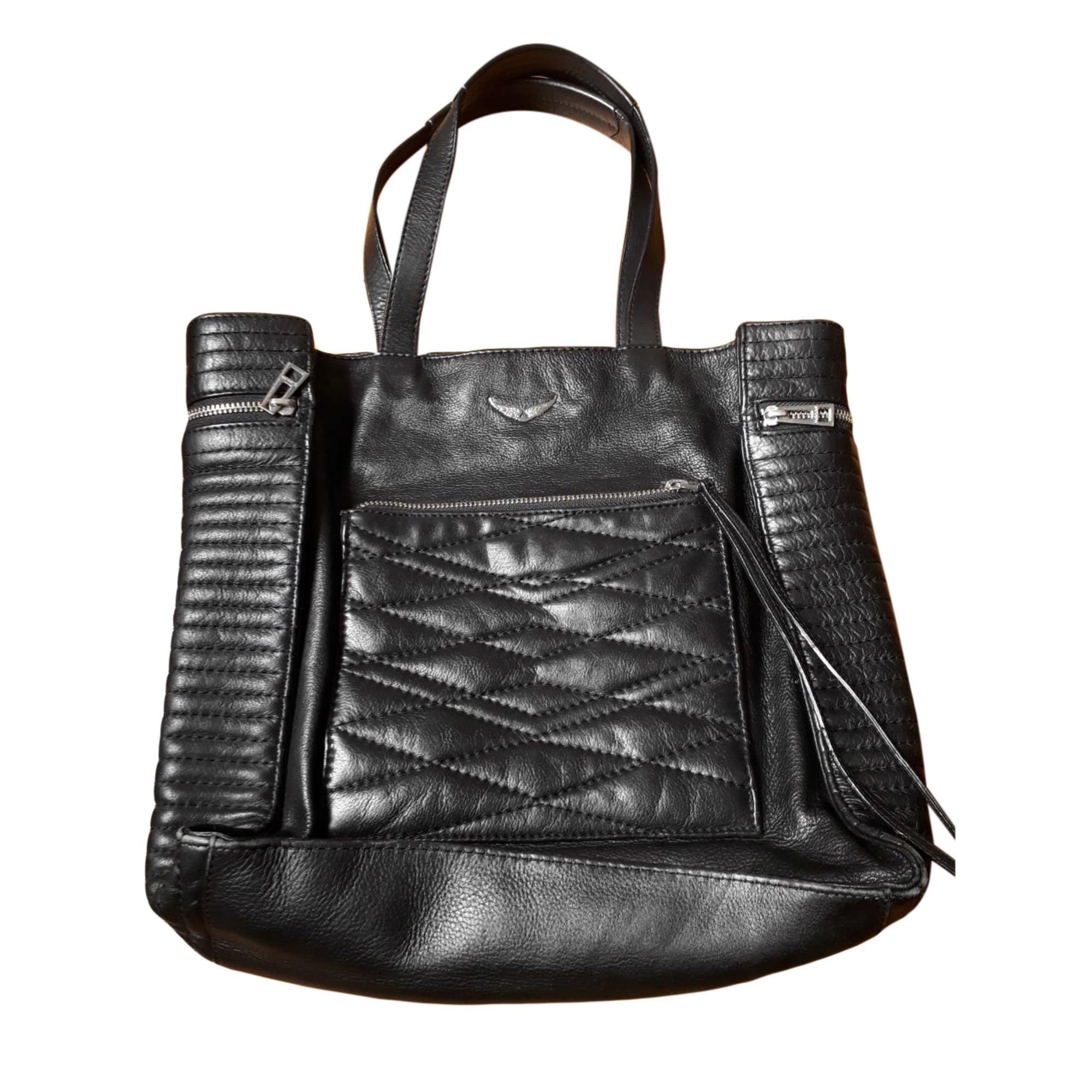 abc68aeb84 Sac à main en cuir ZADIG & VOLTAIRE noir vendu par Le dressing d ...