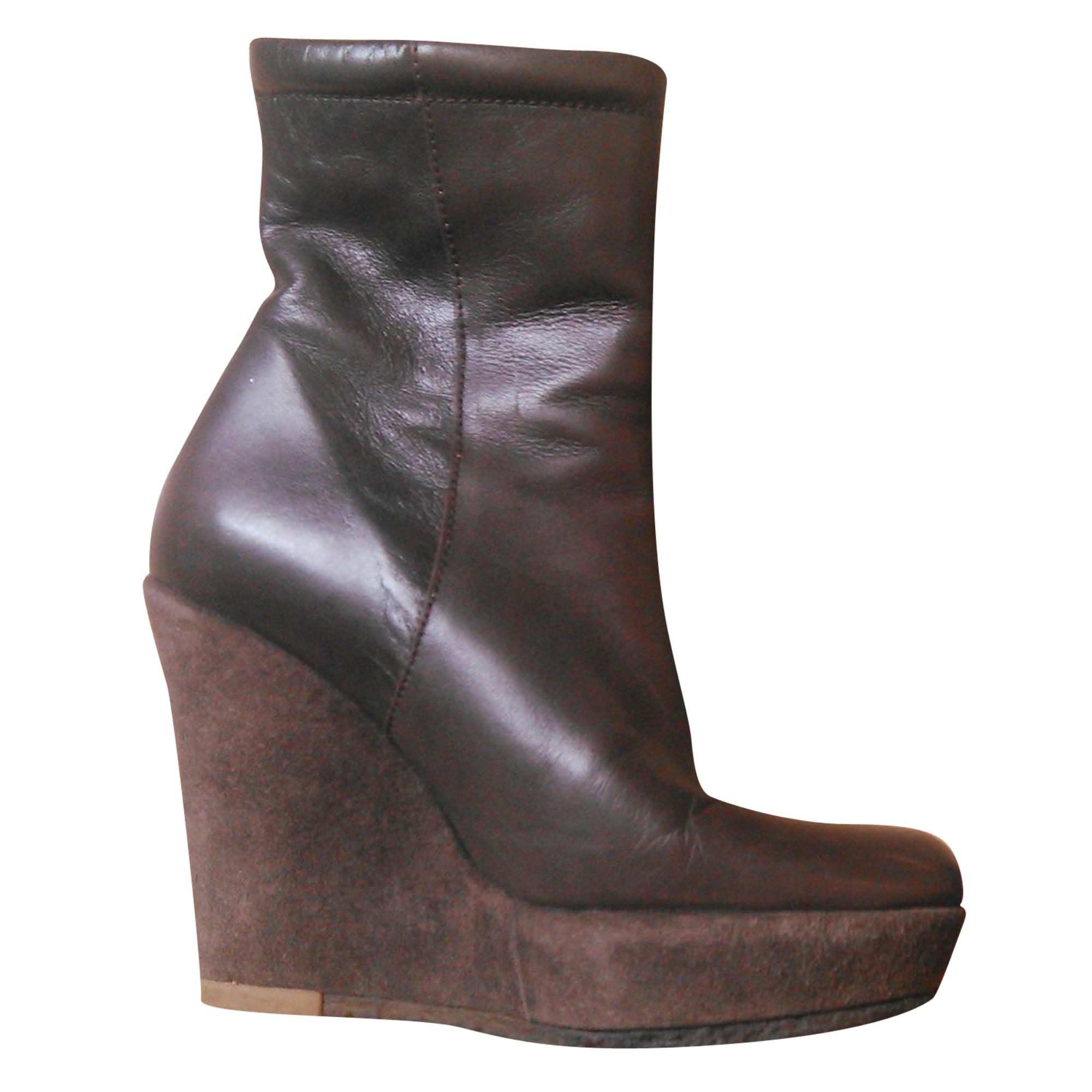 7a4e431c898 Bottines   low boots à compensés CASTANER 35 marron - 7976765