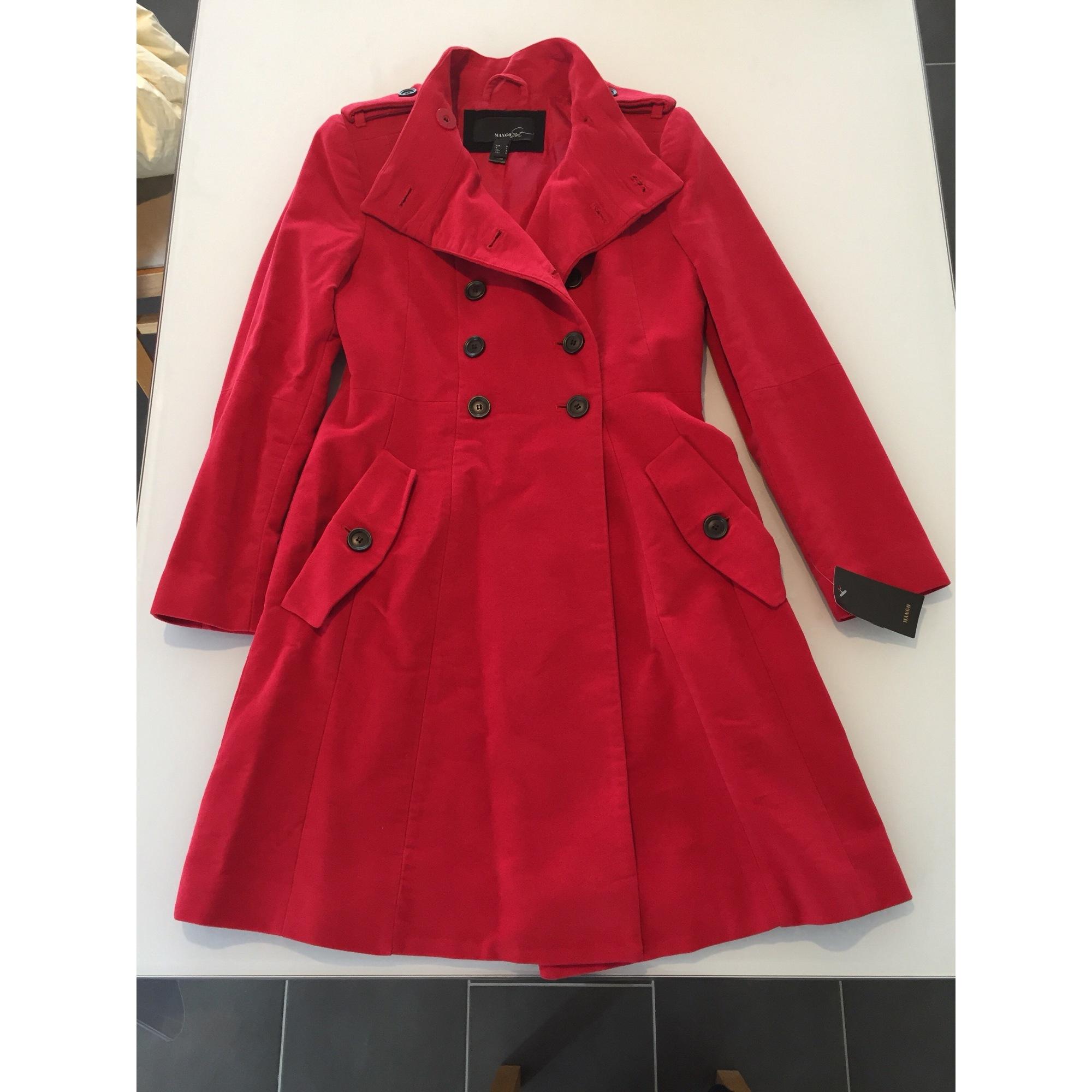 Mango femme manteau rouge