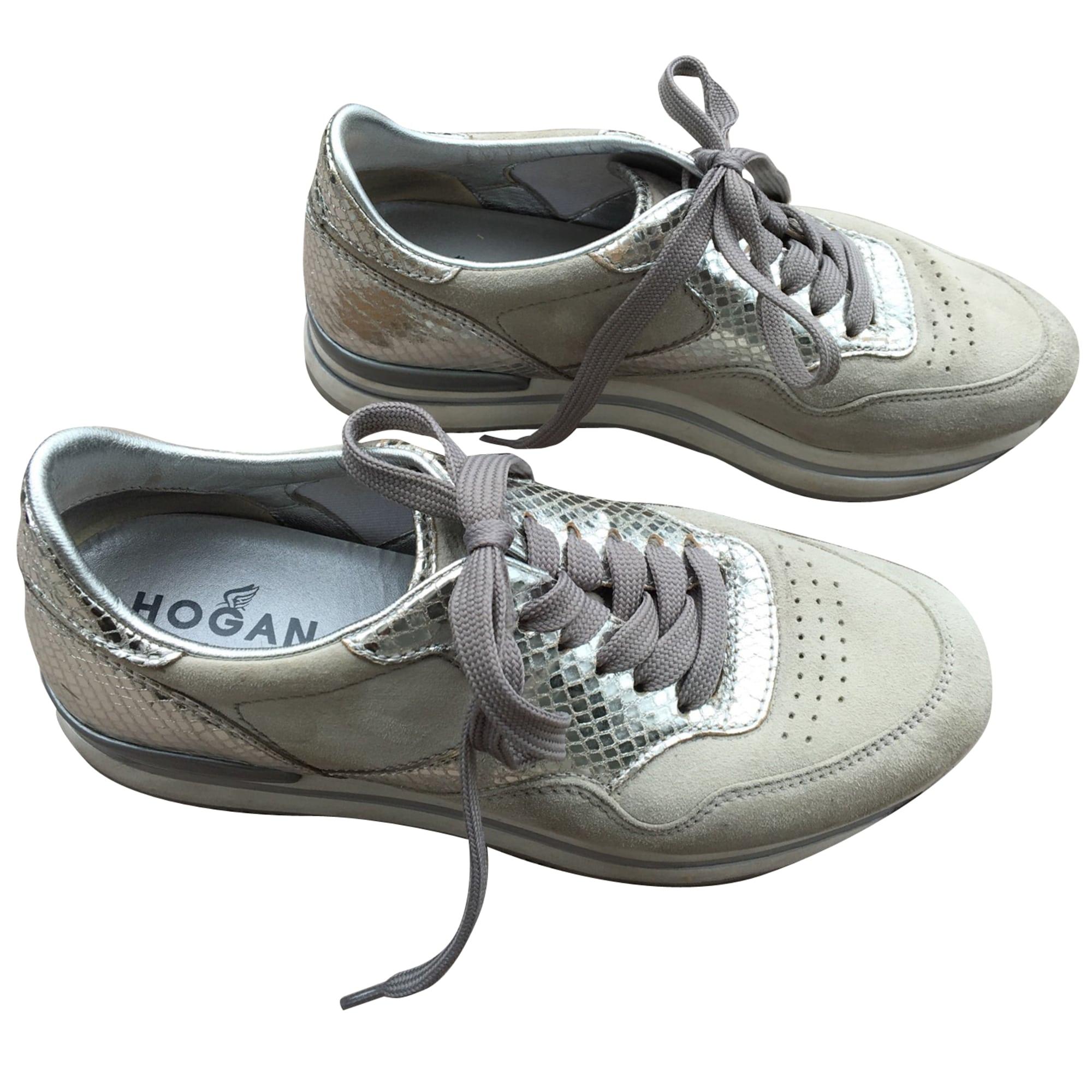 f60ce72858c184 Baskets HOGAN 38 gris - 7986274