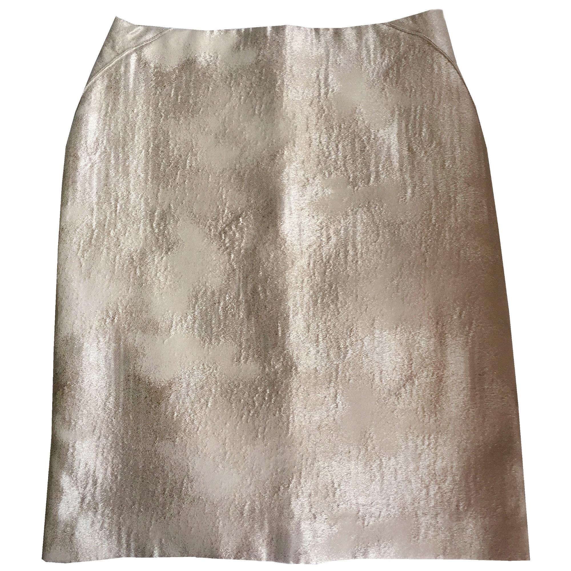 Midi Skirt TARA JARMON Golden, bronze, copper