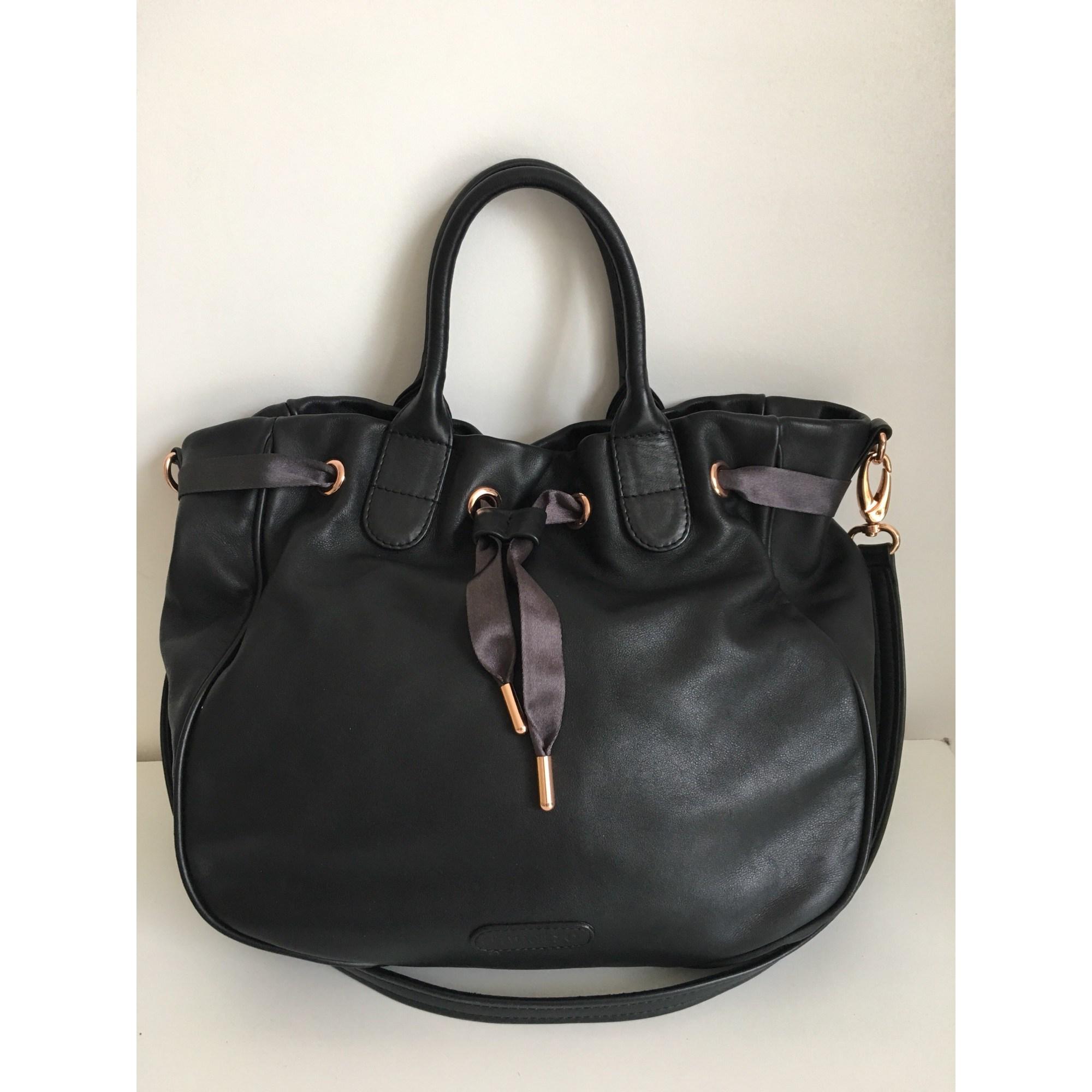 ec8151a4aa Sac à main en cuir REPETTO noir vendu par Marie laurence 22 - 8009103