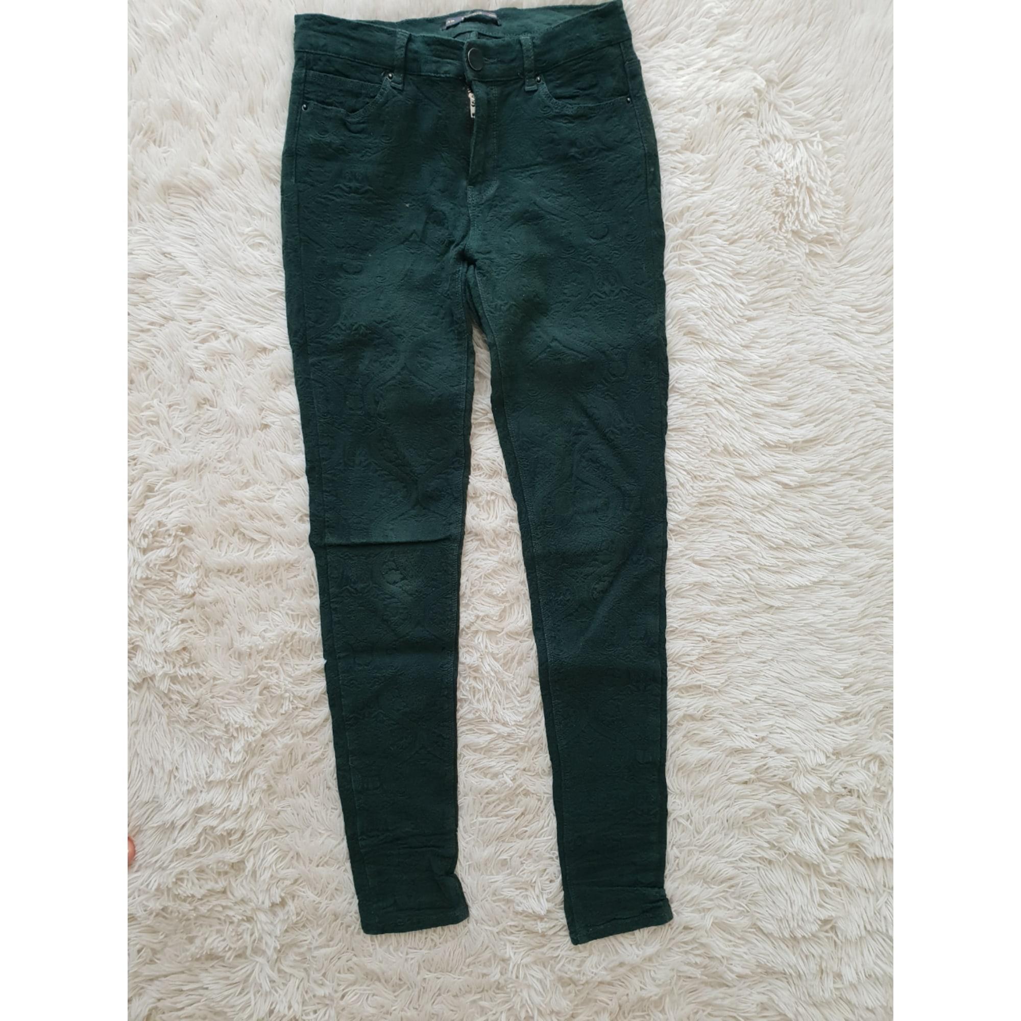 Pantalon slim, cigarette PULL & BEAR Vert