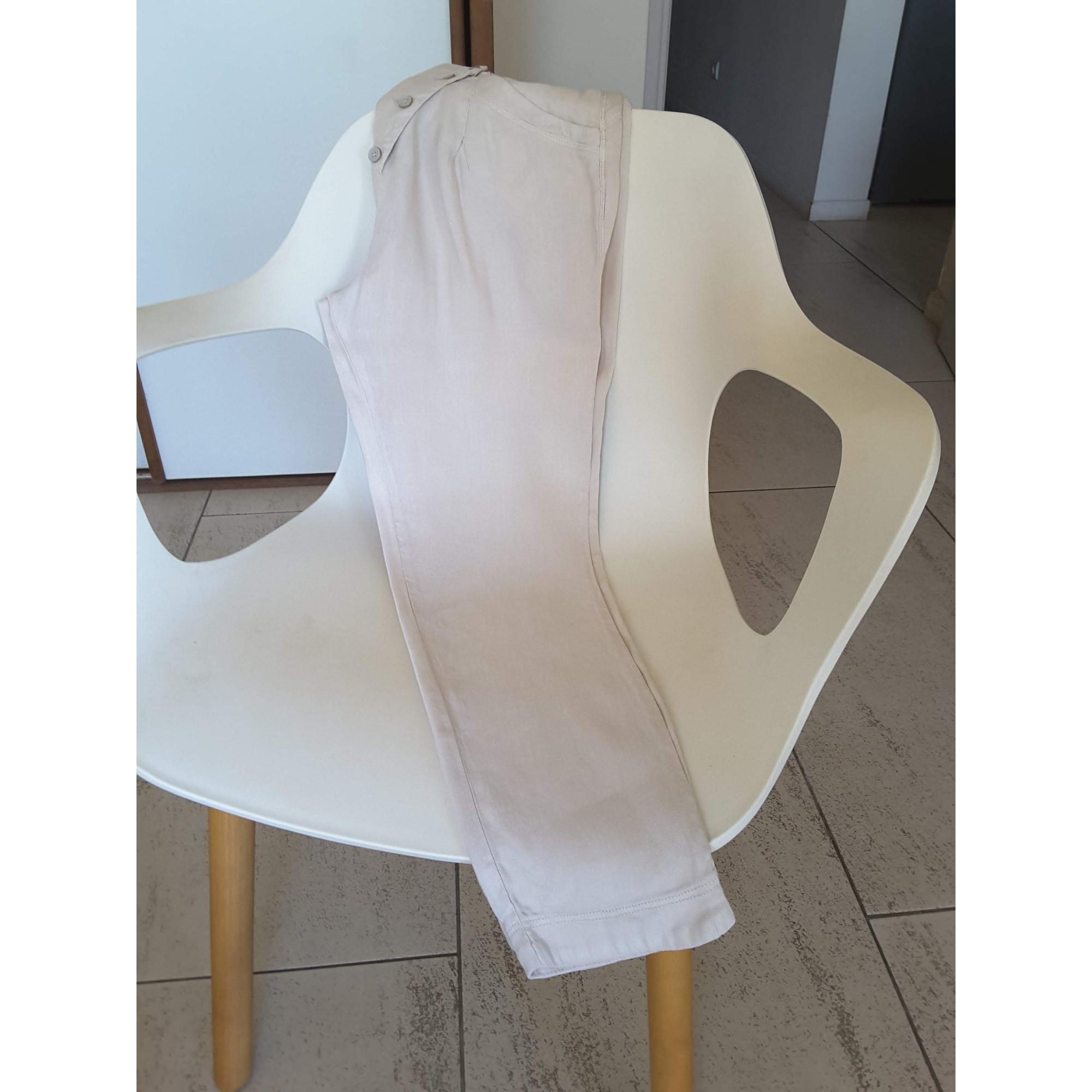 Pantalon carotte TRANSIT PAR SUCH Blanc, blanc cassé, écru