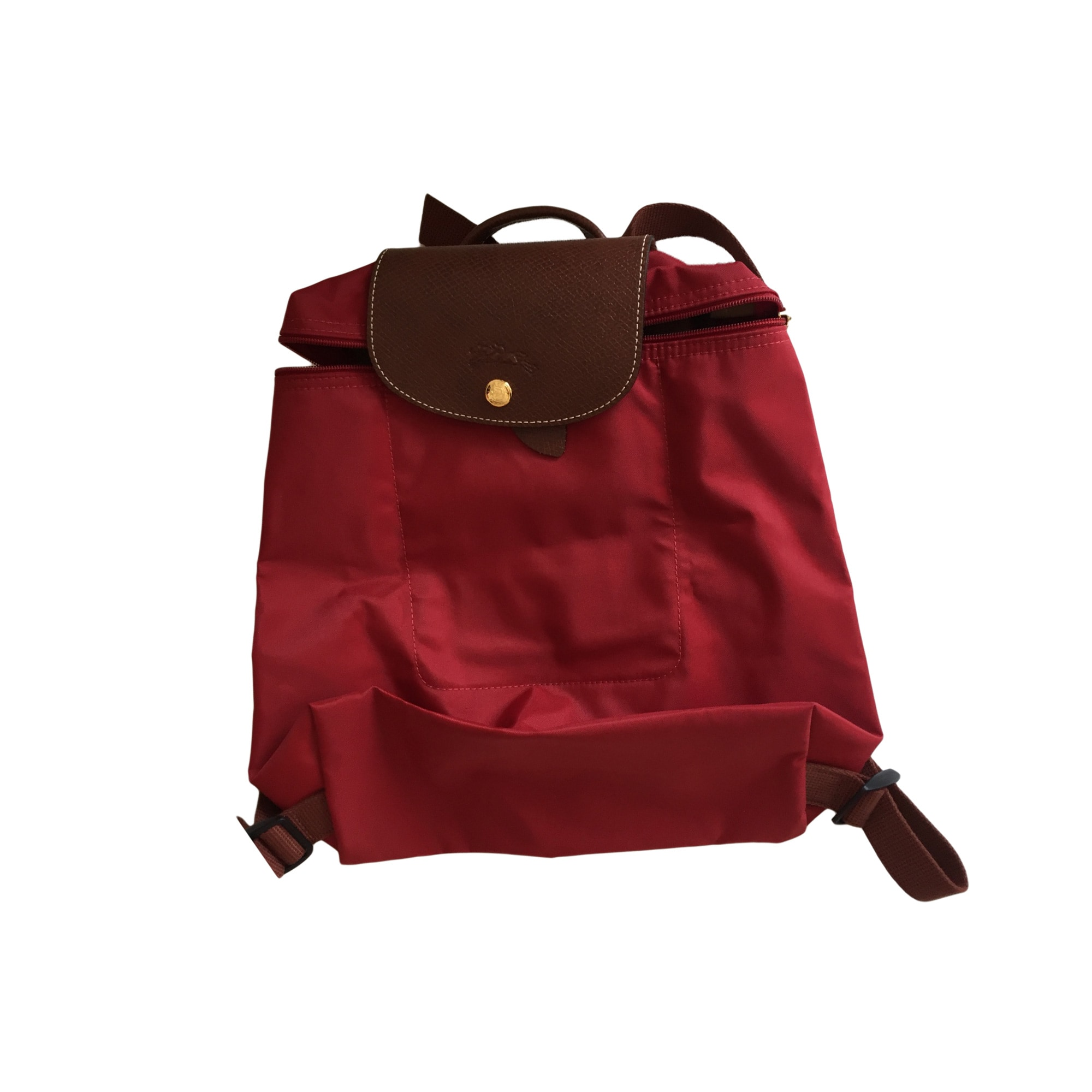 Backpack LONGCHAMP Red, burgundy