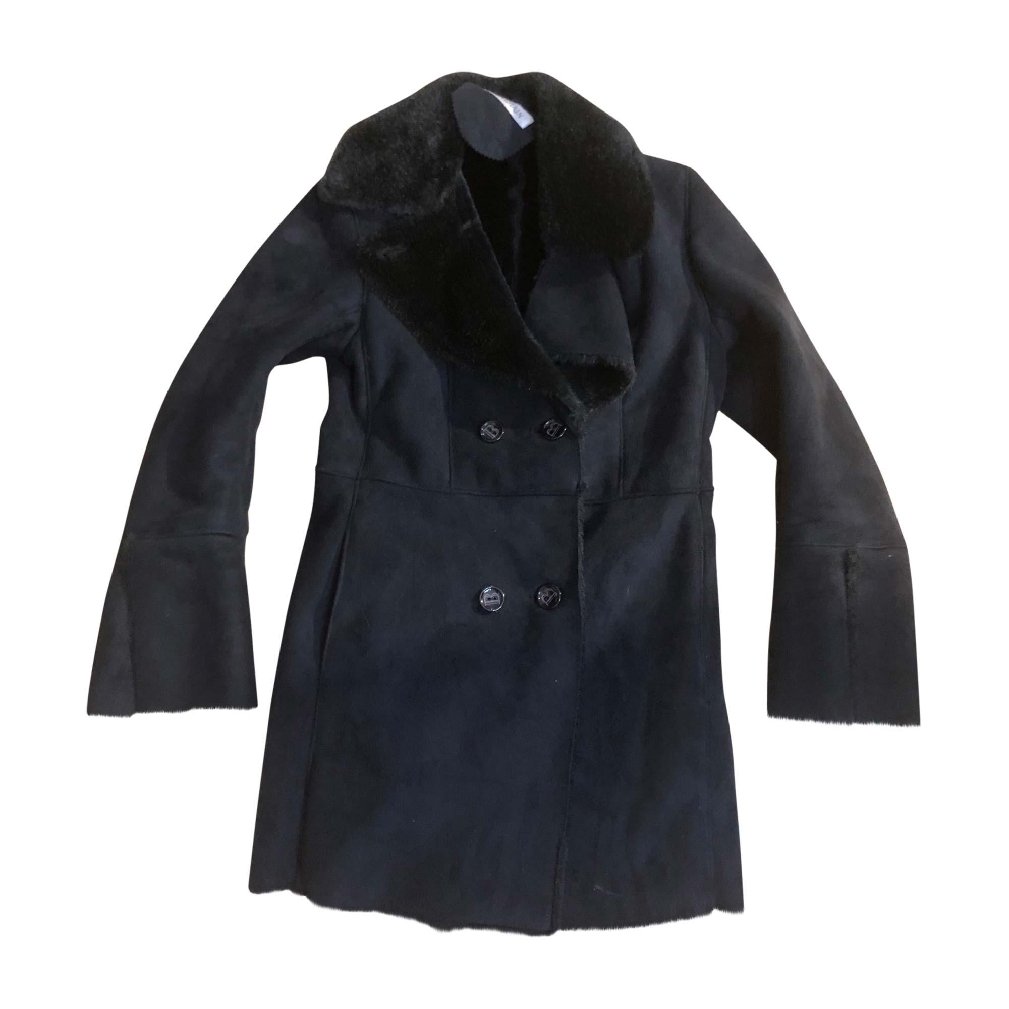 Manteau en fourrure BALMAIN Noir