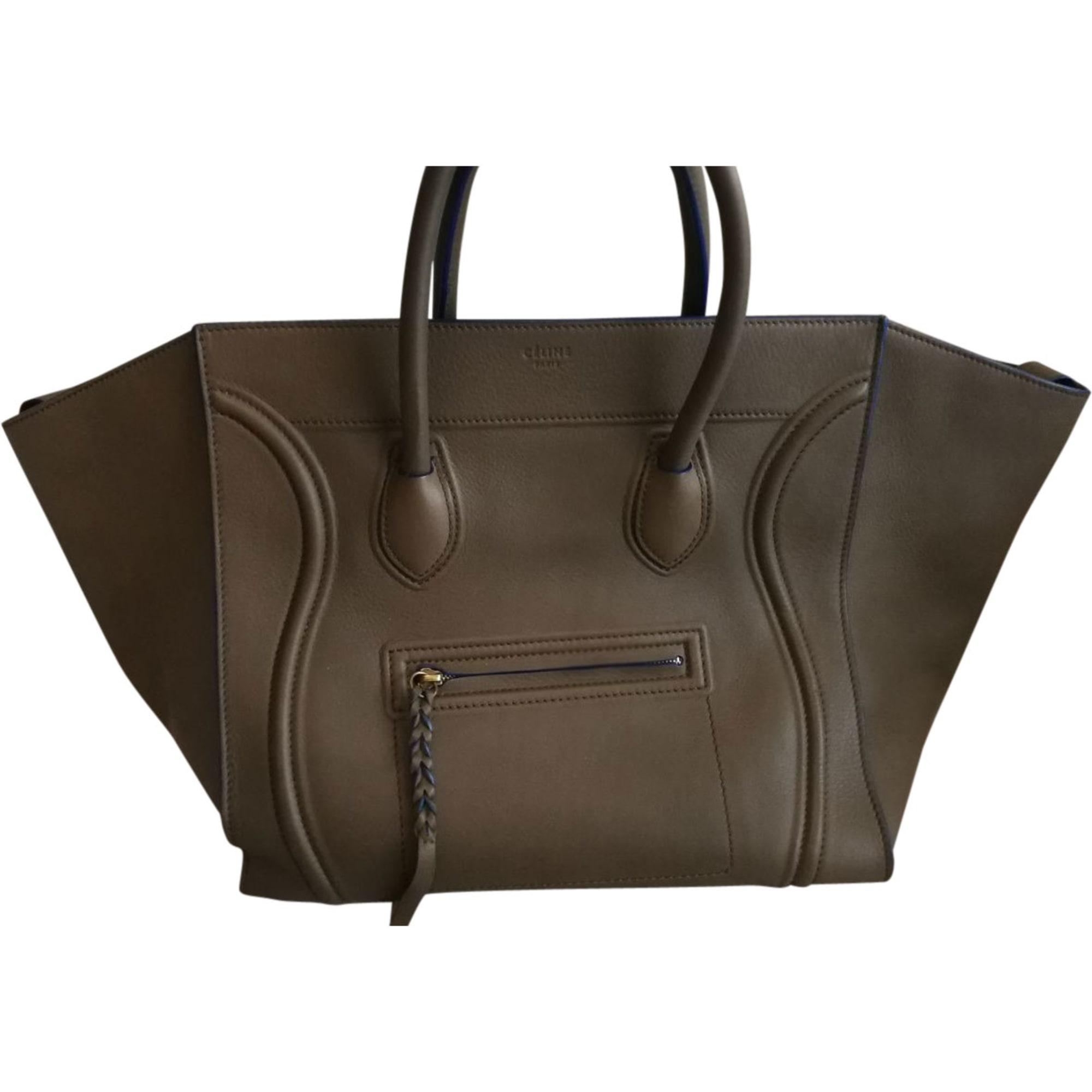 8030918 Khaki Céline Phantom Handbag Leather a5I5YxqwZ