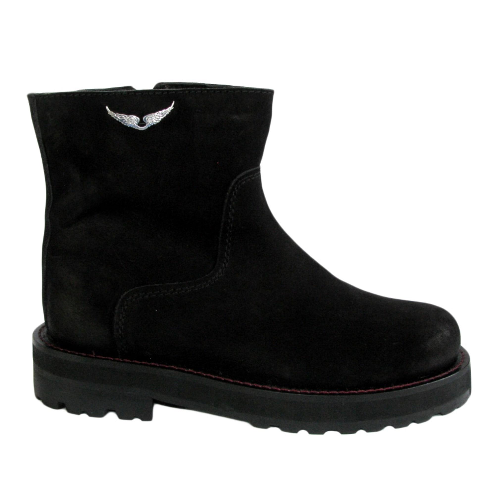 cbb2bc10216 Bottines   low boots plates ZADIG   VOLTAIRE 38 noir vendu par Le ...
