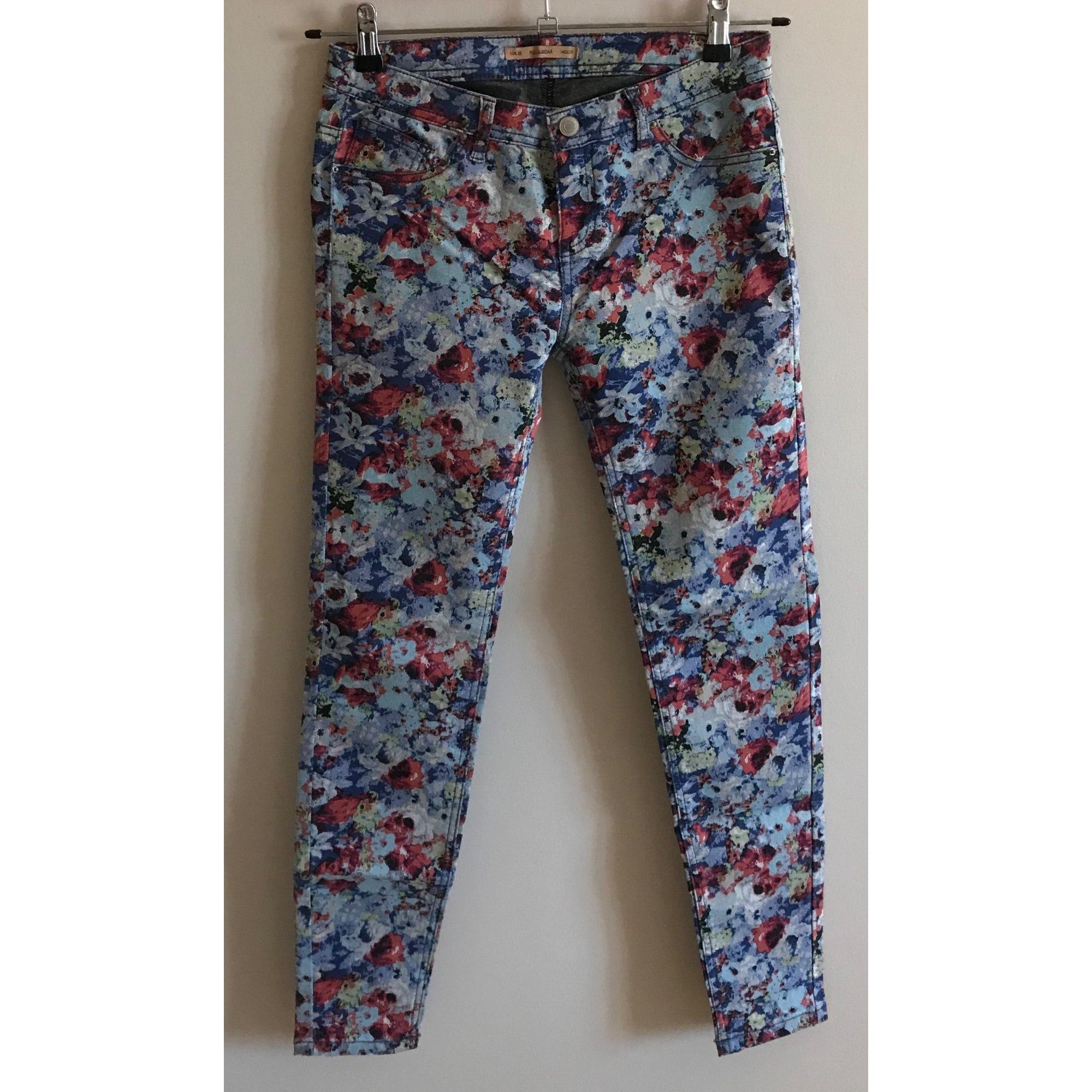 Pantalon slim, cigarette PULL & BEAR Multicouleur