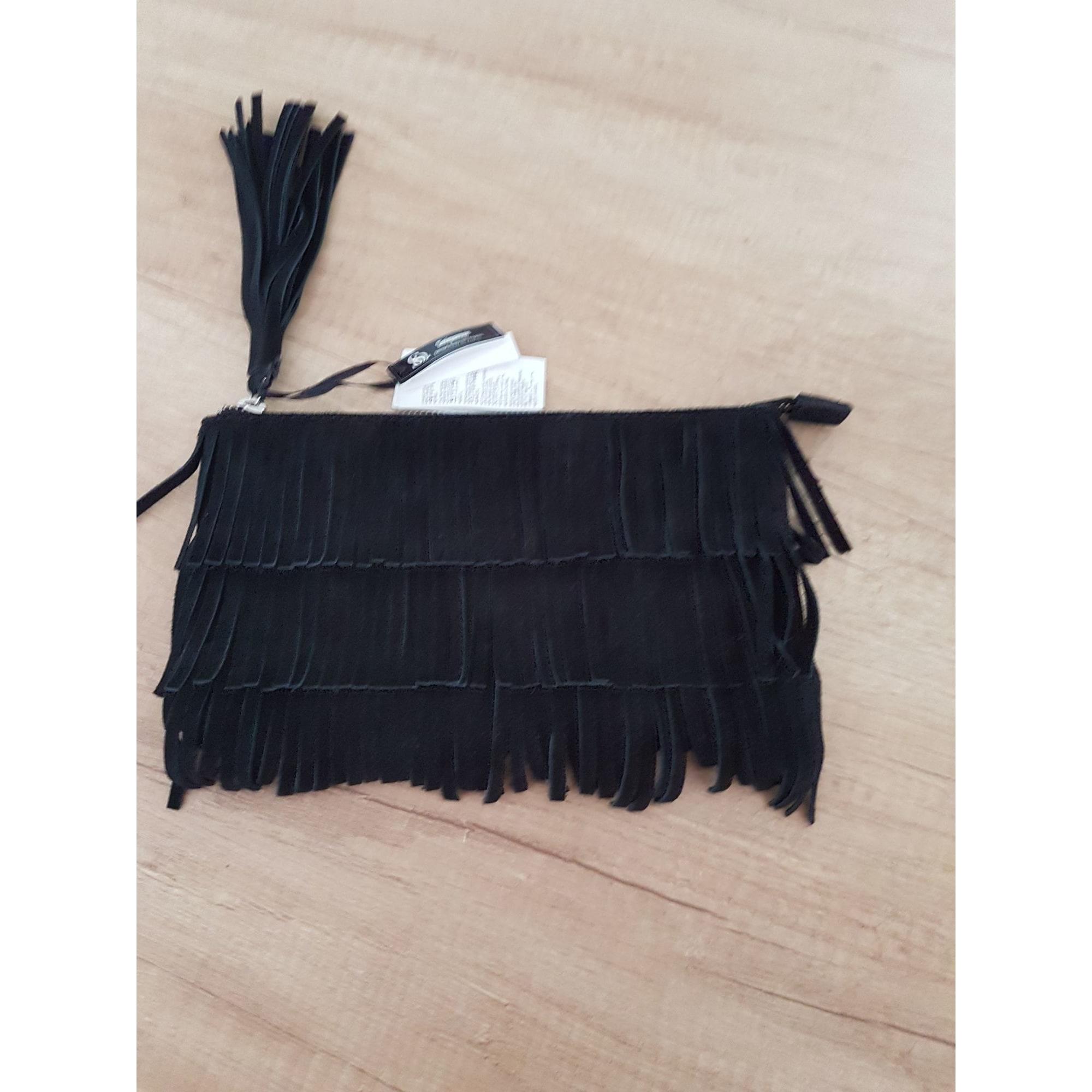 Pochette SINÉQUANONE daim noir