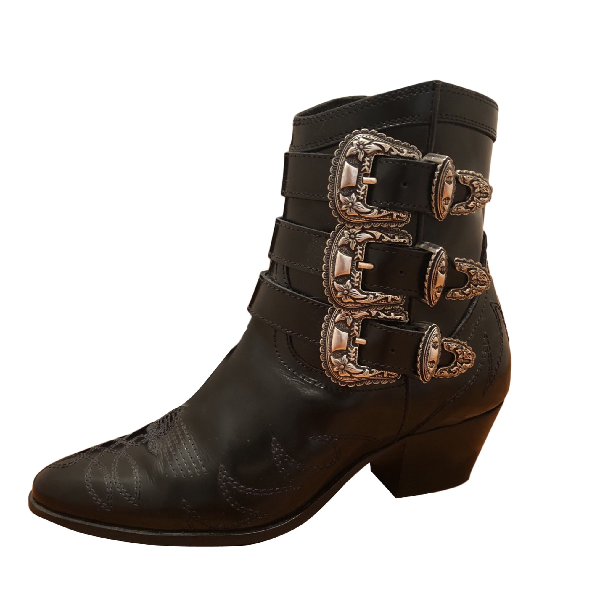 9f09c8d1dd0 Santiags, bottines, low boots cowboy THE KOOPLES 36 noir vendu par ...