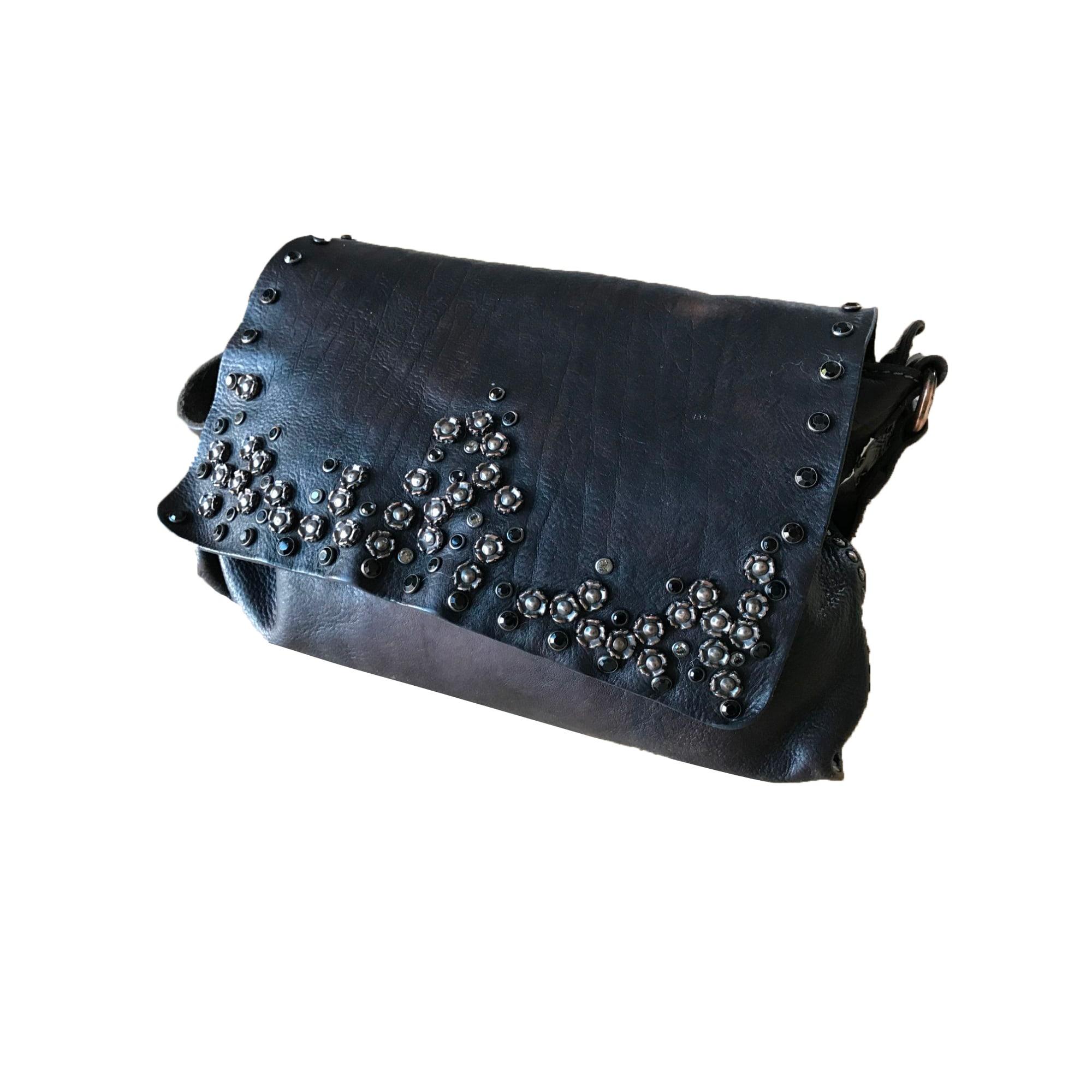 CAMPOMAGGI cuir Sac bandoulière en Noir en waI6YSxq4