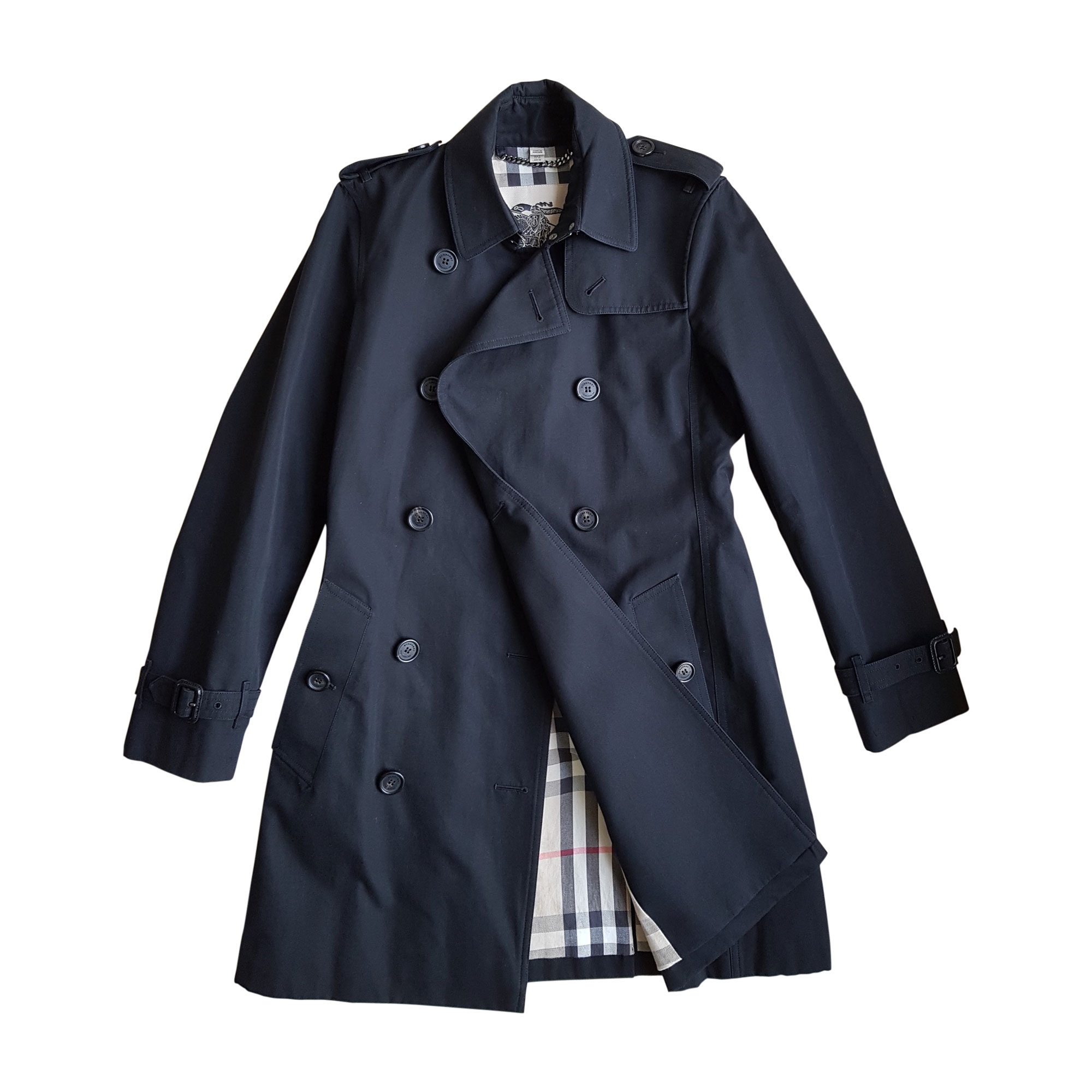 Imperméable, trench BURBERRY 36 (S, T1) noir - 8071833 0caeed66386