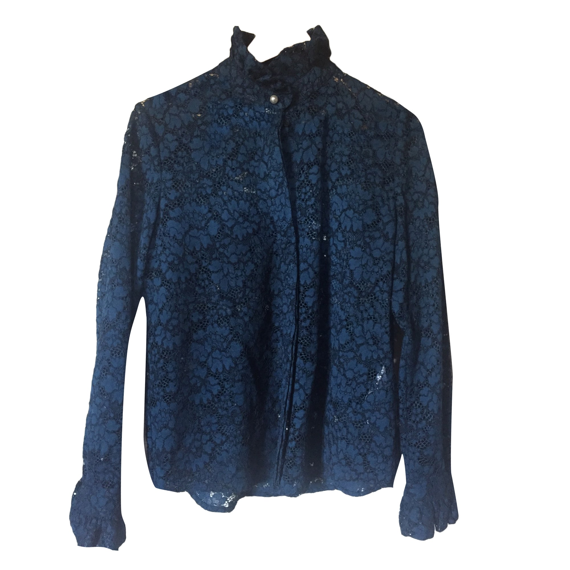 Chemise CLAUDIE PIERLOT Bleu, bleu marine, bleu turquoise