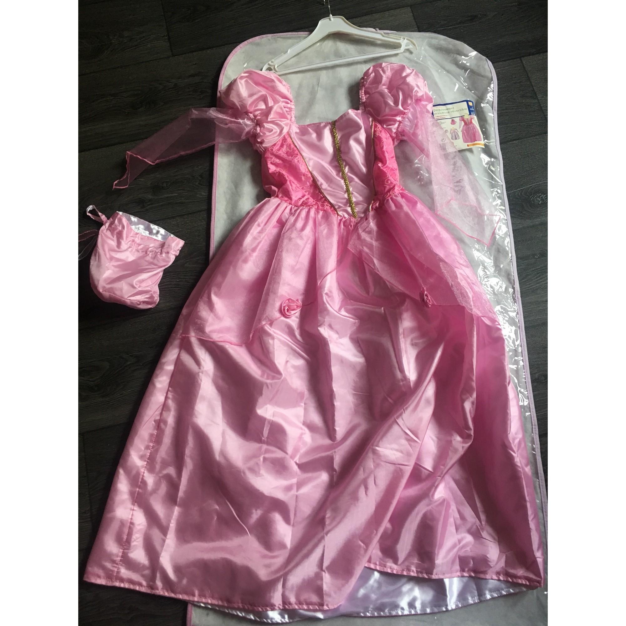 Robe OXYBUL polyester rose 9-10 ans