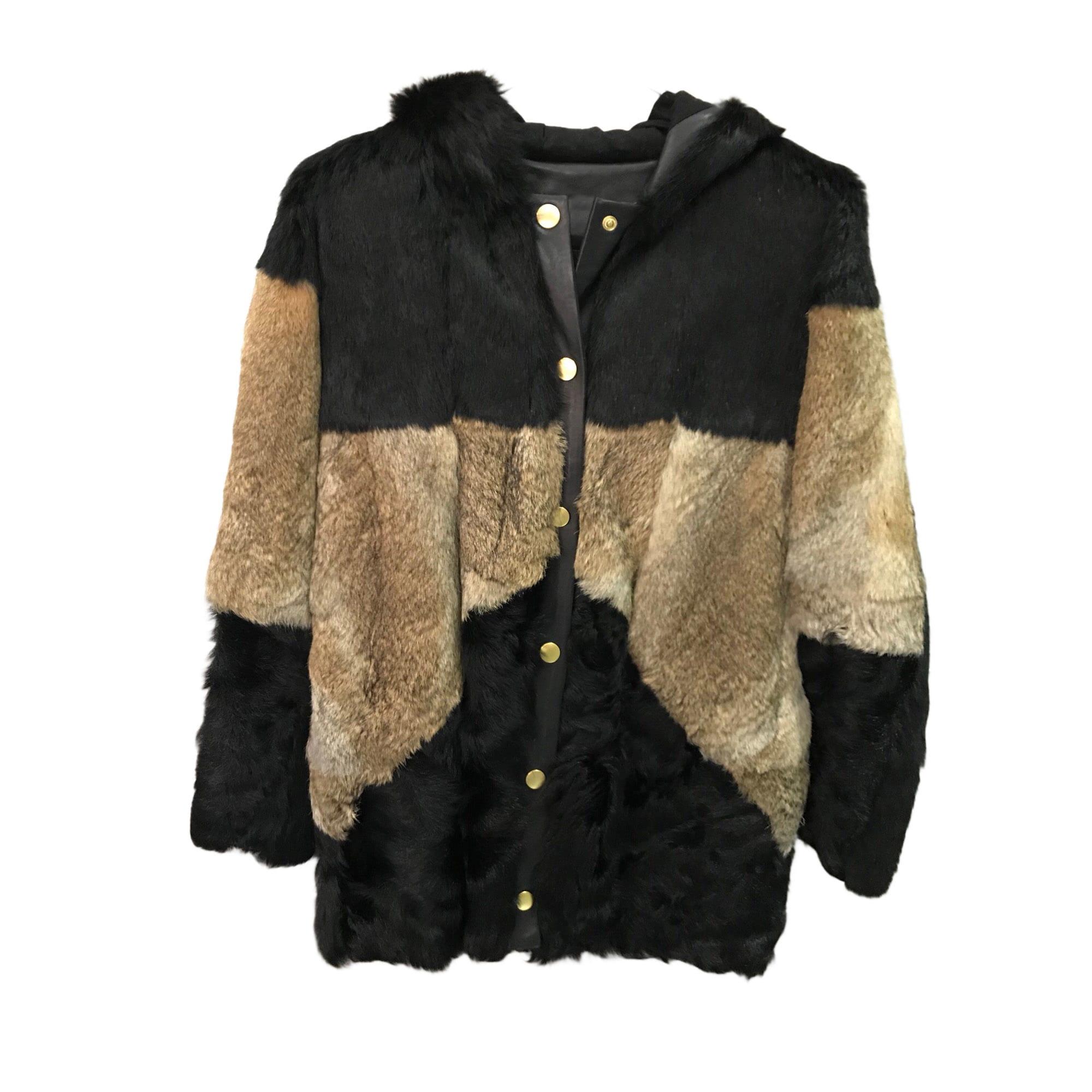 Manteau en fourrure MAJE 38 (M, T2) noir - 8075009 7cb2dd39d80