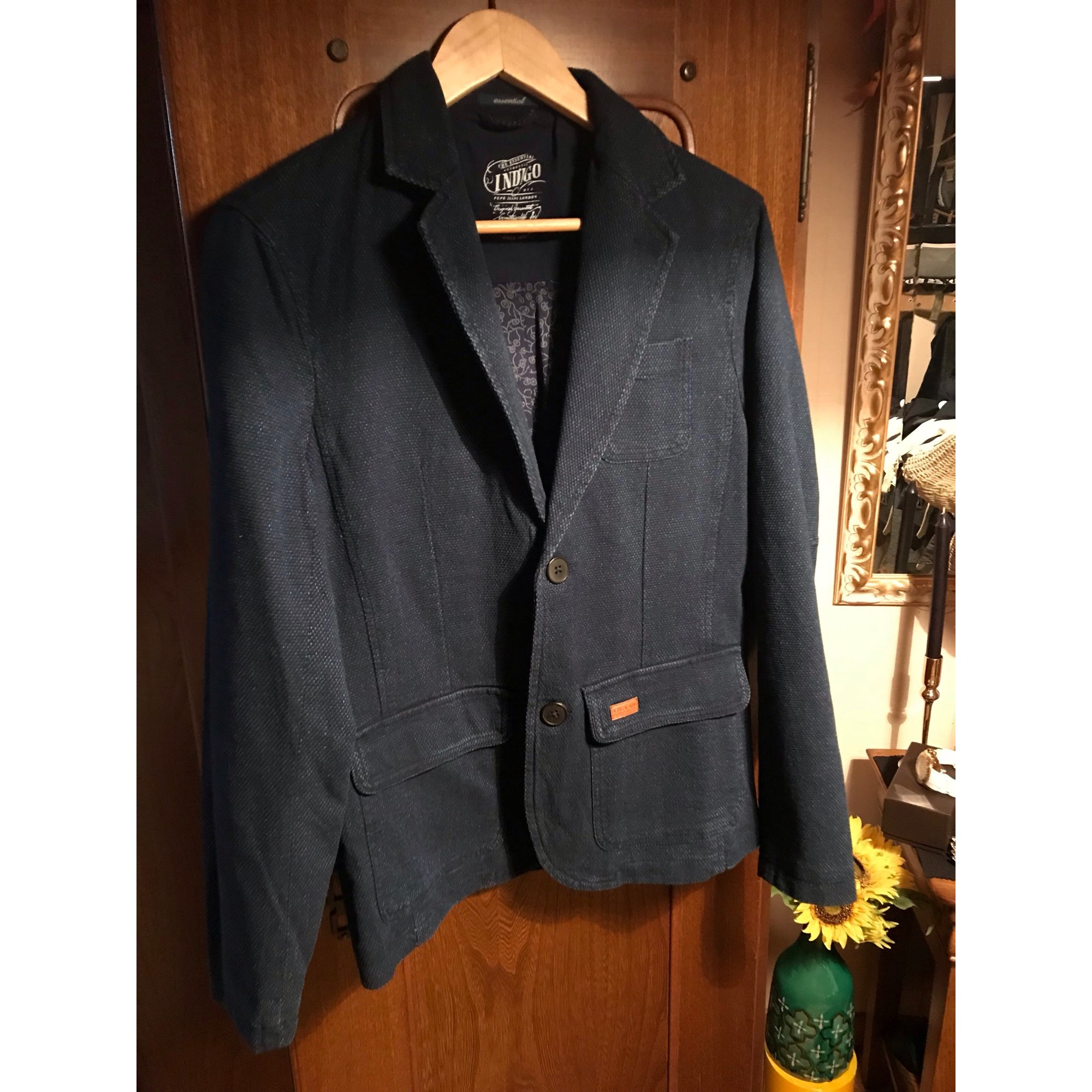 Jeans Veste 8075285 38 Pepe Bleu Hpxp7A1